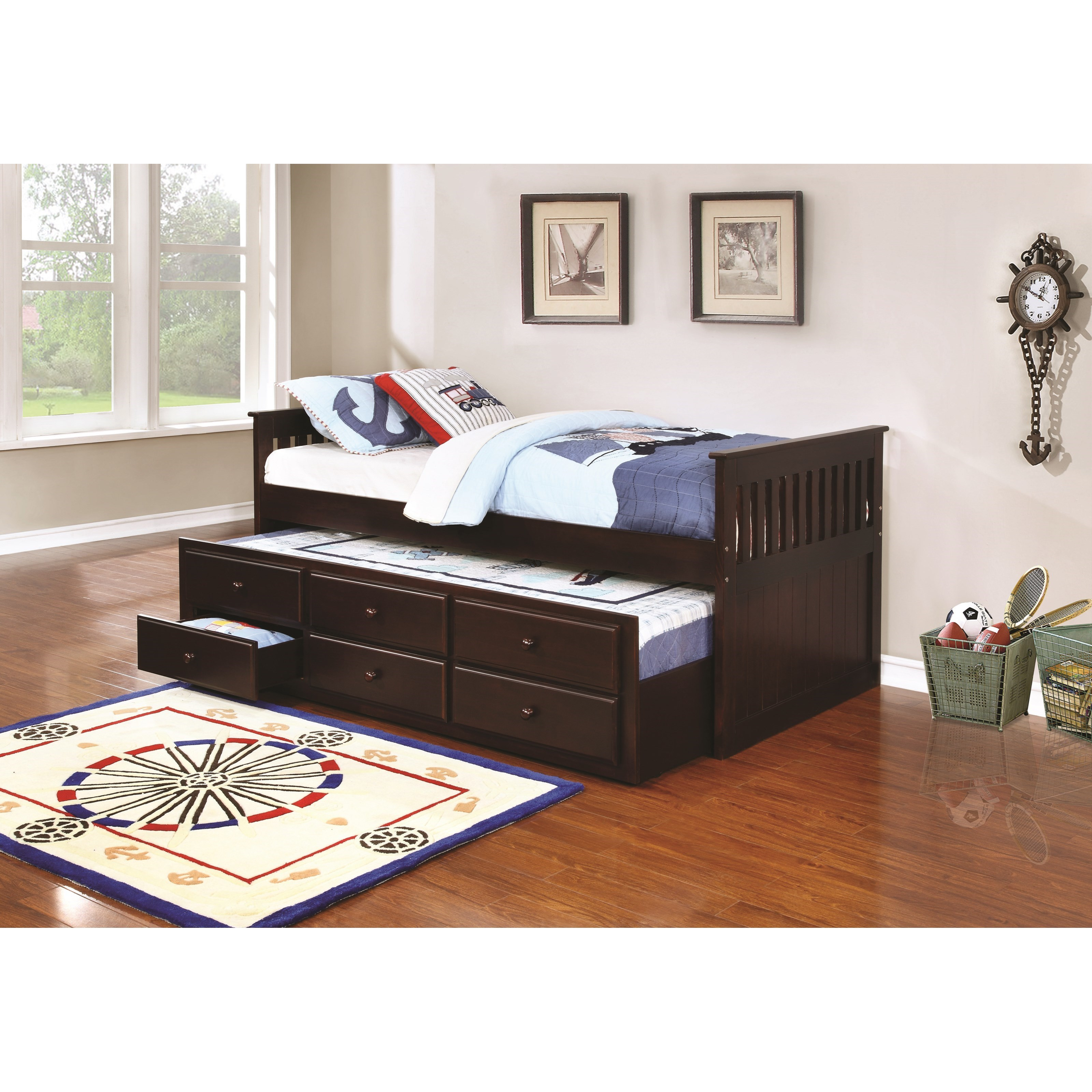 trundle beds with storage coaster la salle 300100 300106 captain s bed with 17585