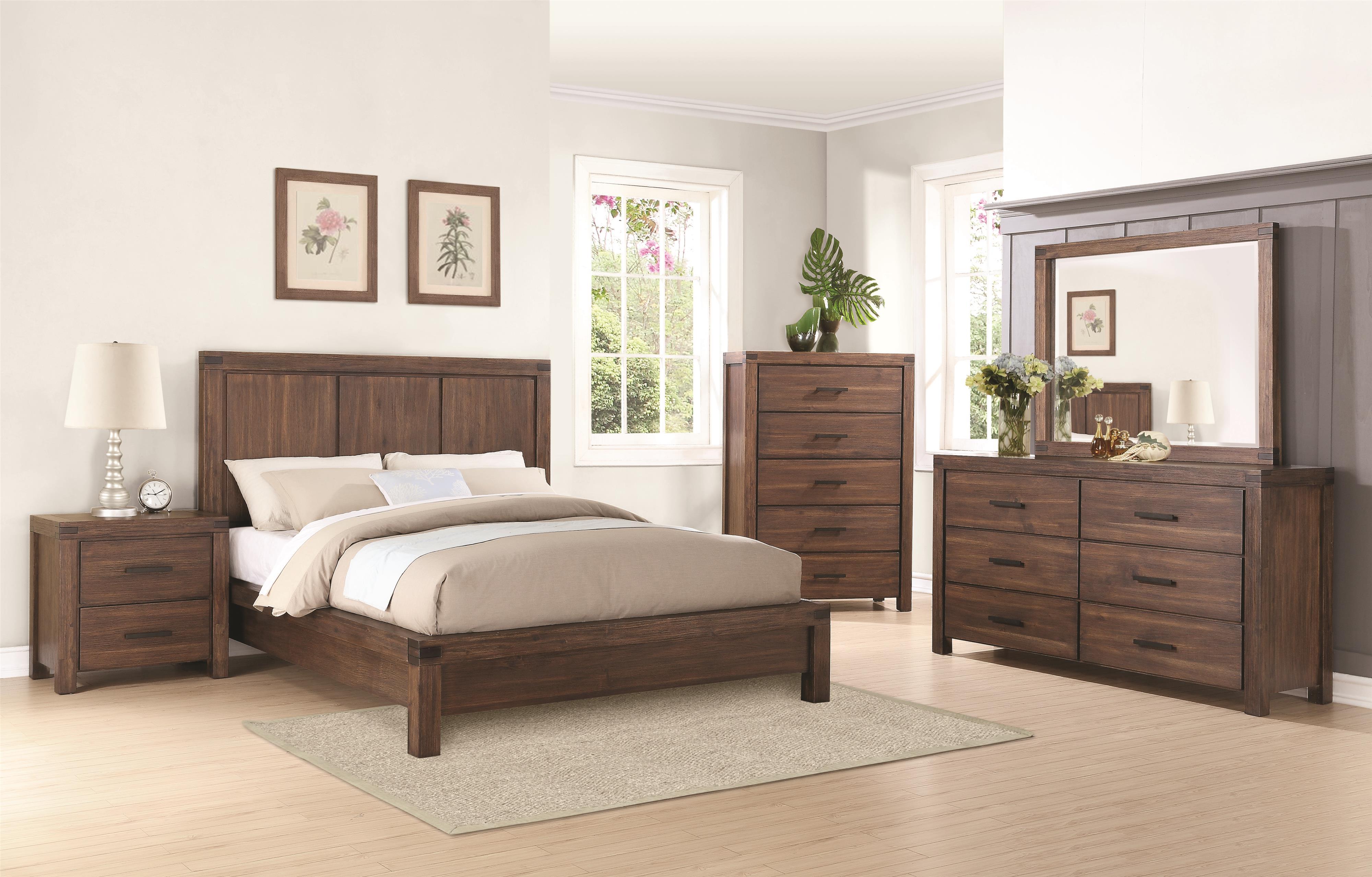 Coaster Lancashire King Bedroom Group Dunk & Bright Furniture Bedroom