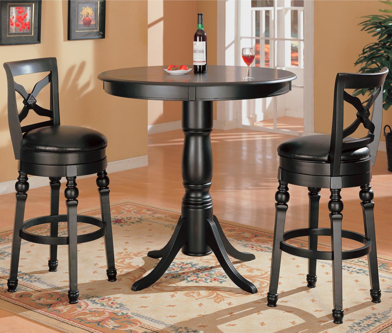 Coaster Lathrop 3 Piece Bar Table Set Value City Furniture Pub Table And Stool Sets