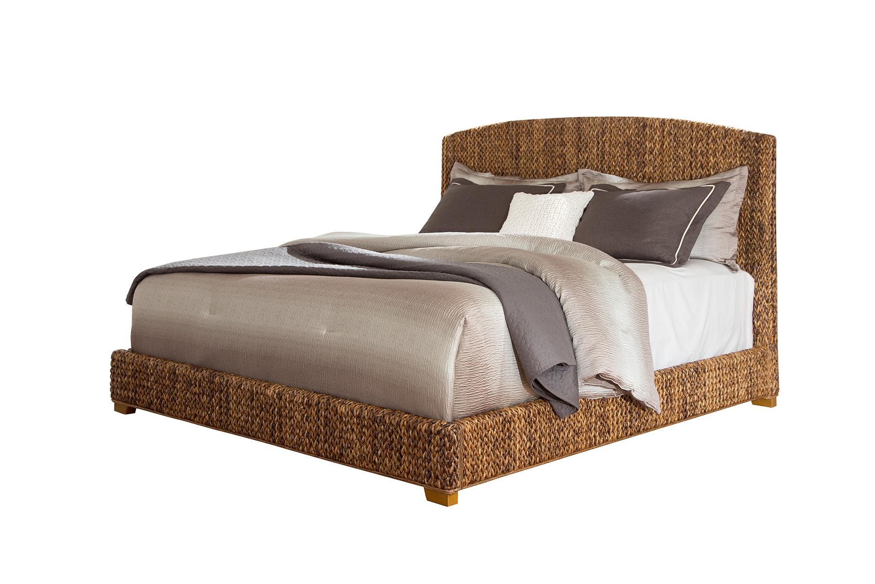 Coaster Laughton Woven Banana Leaf King Bed Miskelly Furniture Platform Beds Low Profile Beds