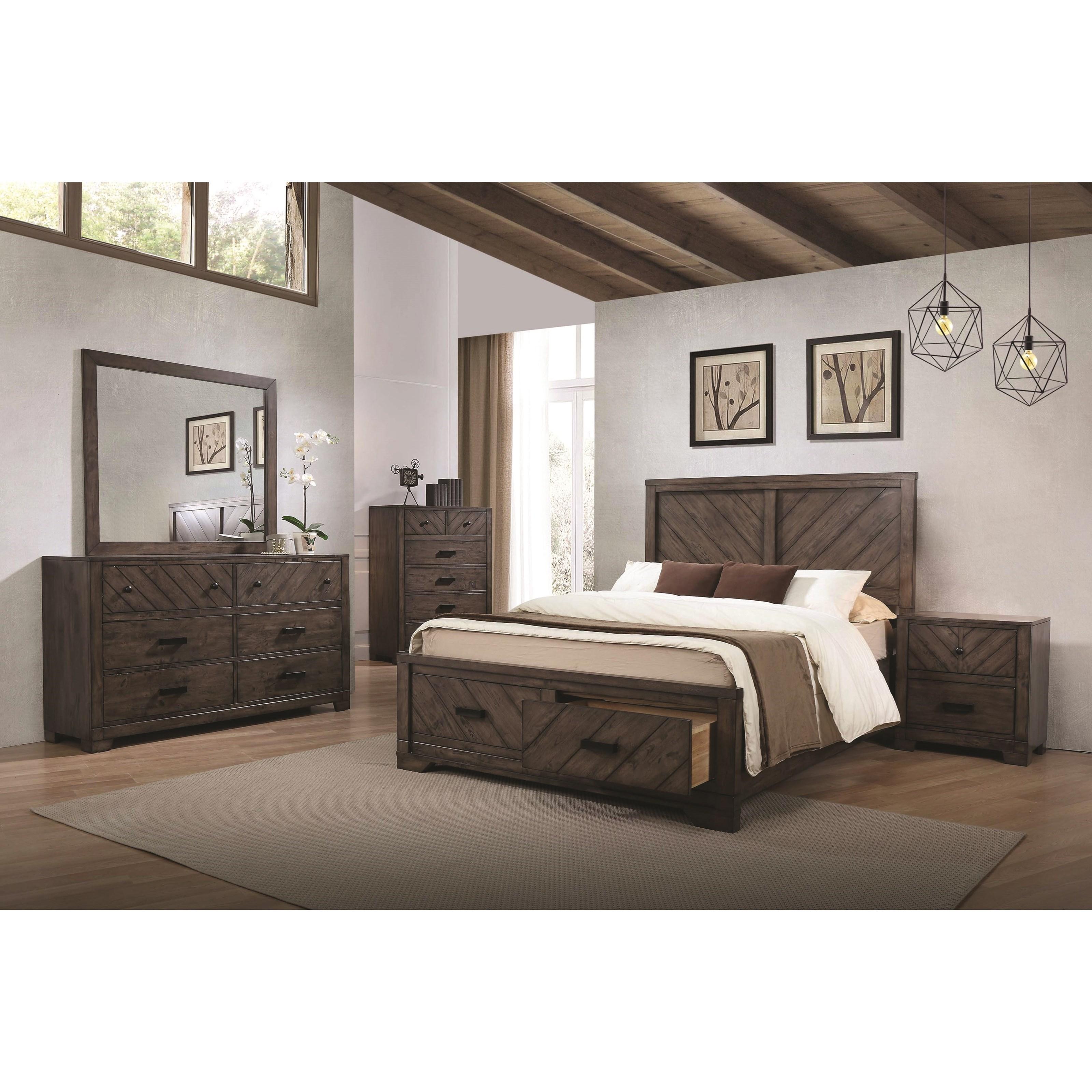 Coaster lawndale king bedroom group rife 39 s home for Bedroom groups