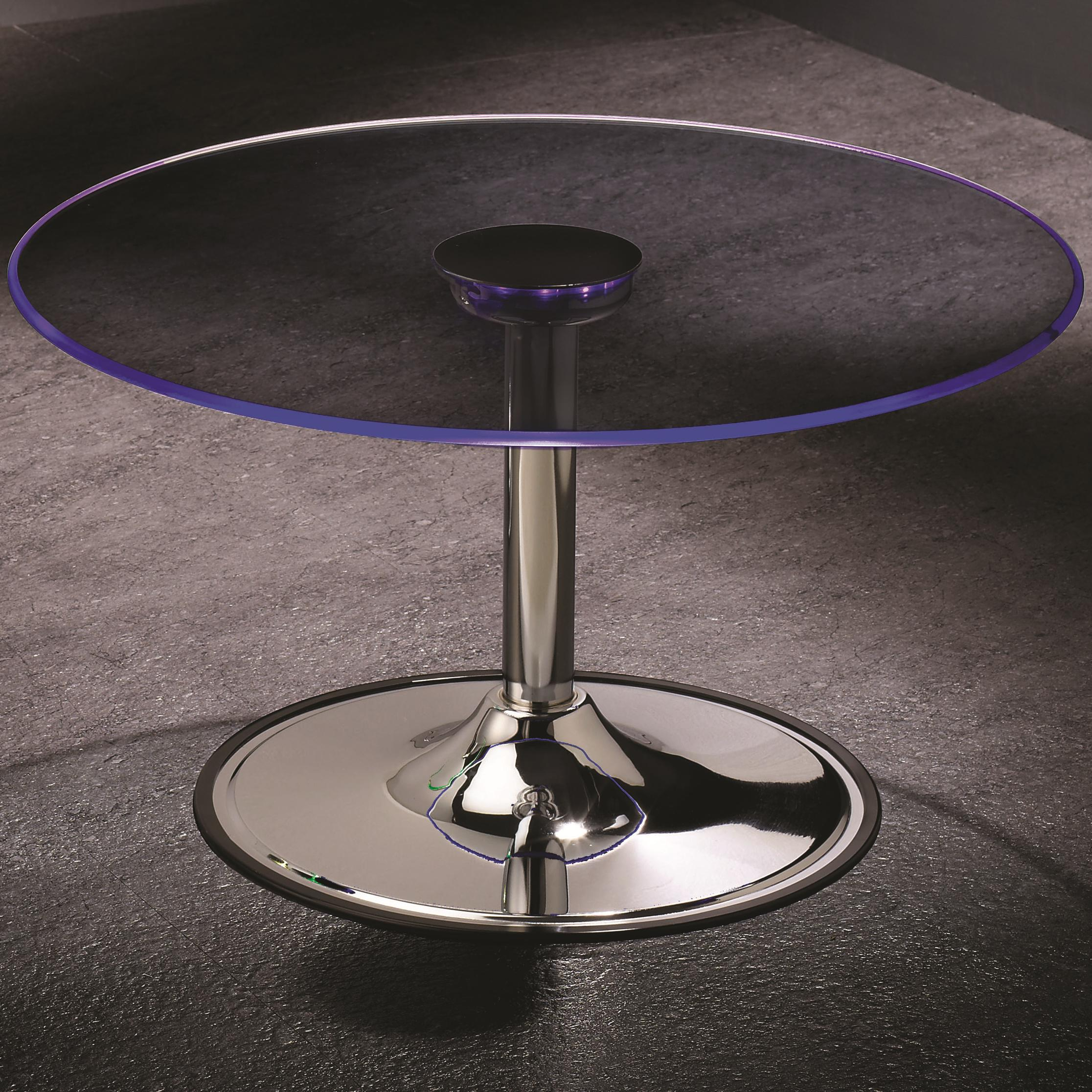Coaster led 701498 transitioning led coffee table with for Cocktail tables led