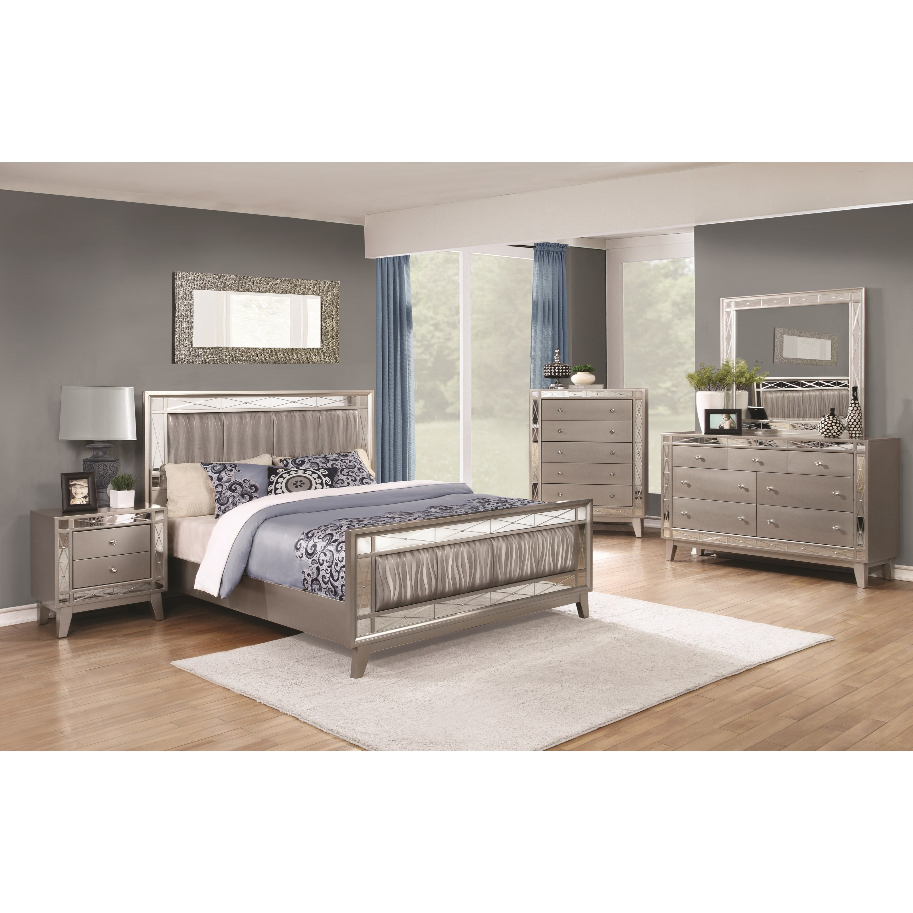 coaster leighton queen bedroom group del sol furniture