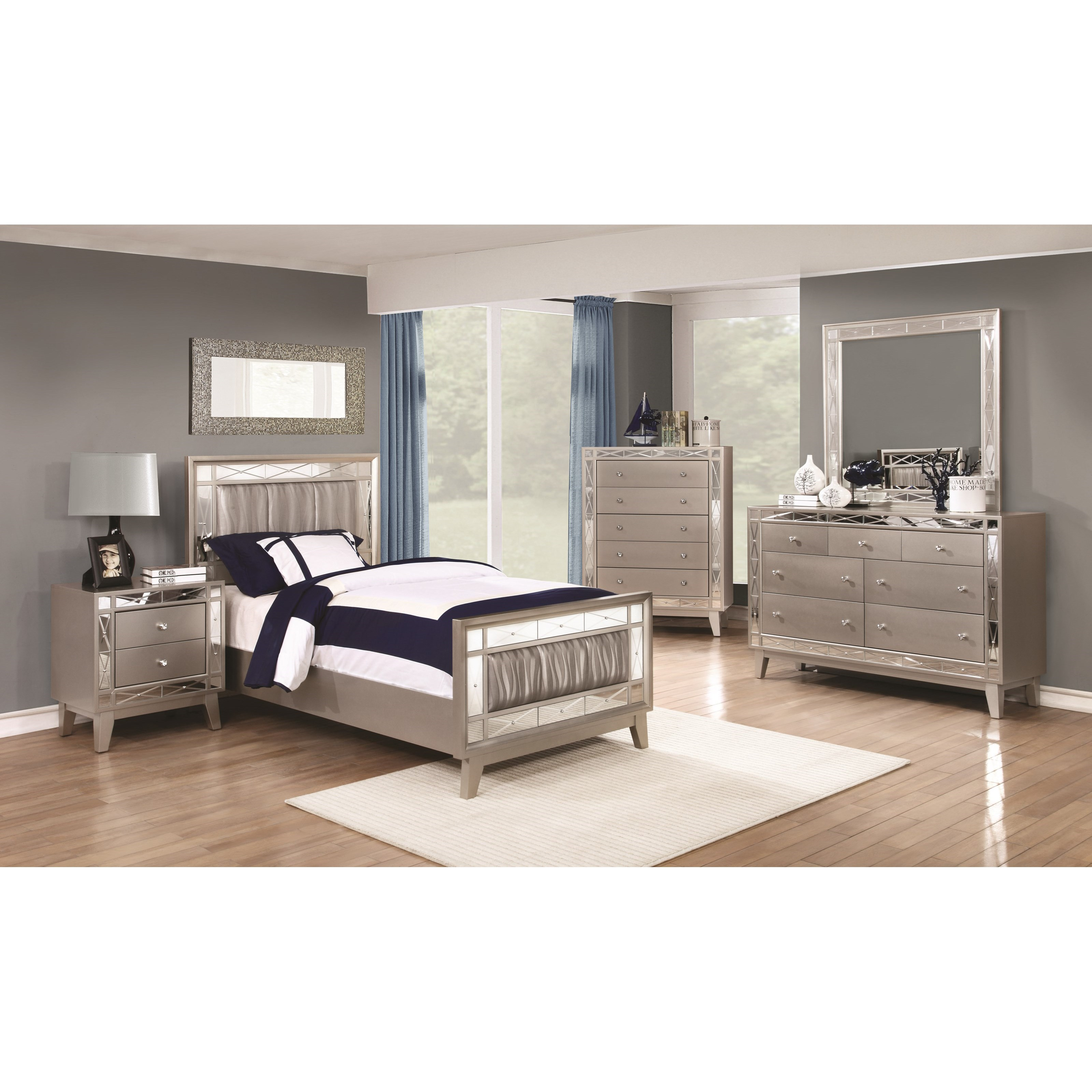 coaster leighton twin bedroom group del sol furniture