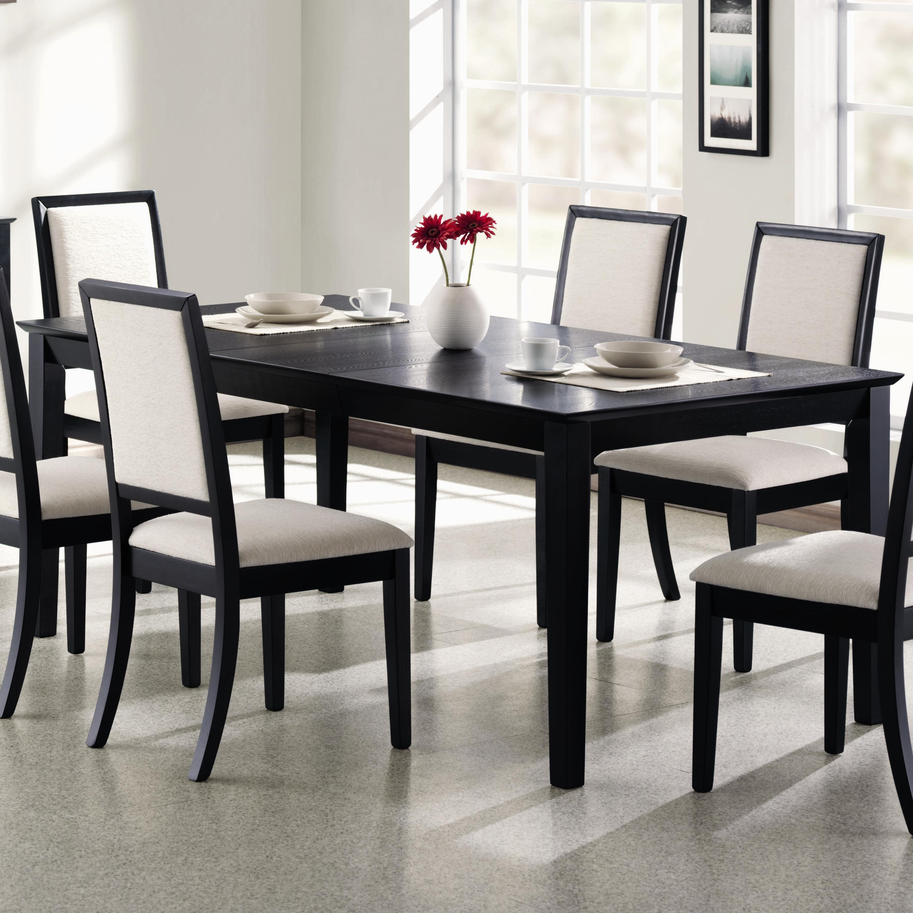 Well-known Modern Black Dining Table. Coaster Lexton Rectangular Dining Table  CJ49