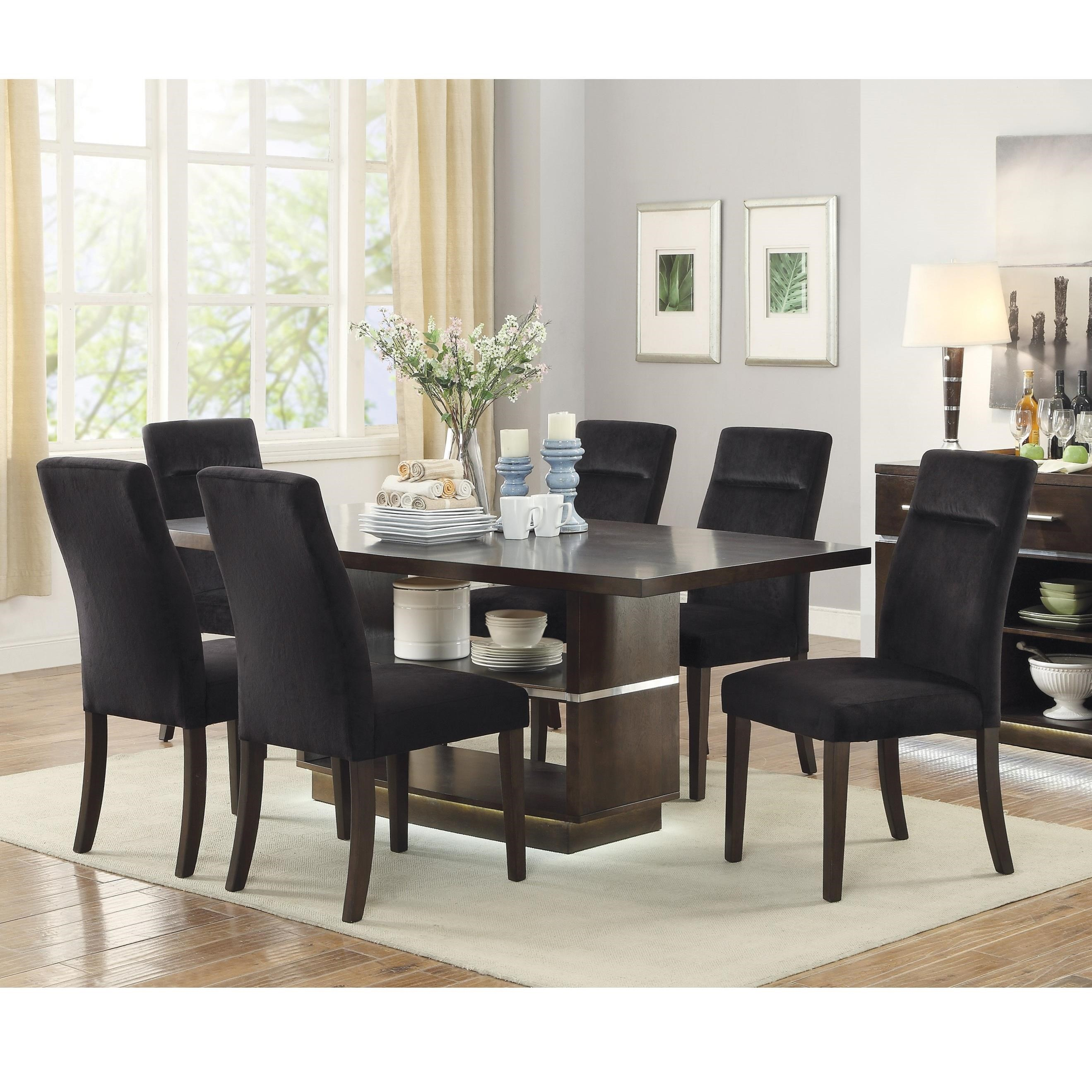 Coaster Lincoln Contemporary Table and Chair Set Value