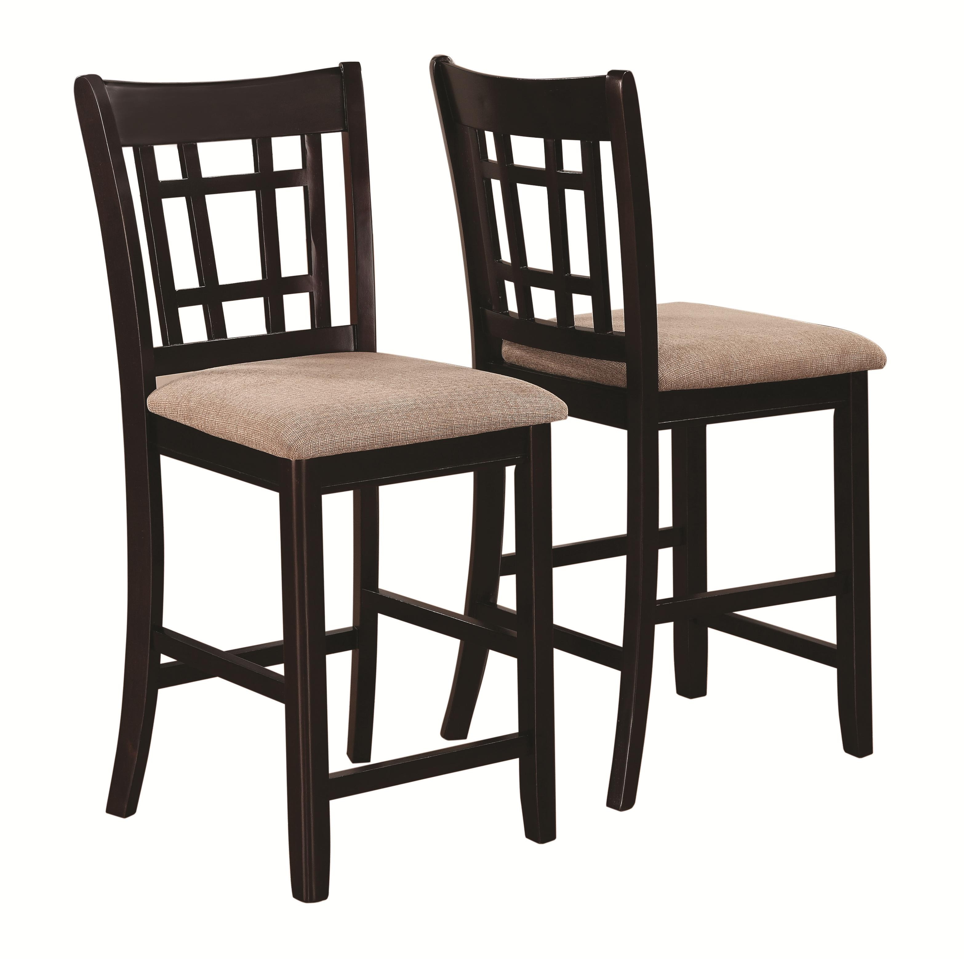 coaster lavon 105279 casual lattice back counter height stool del sol furniture bar stools. Black Bedroom Furniture Sets. Home Design Ideas
