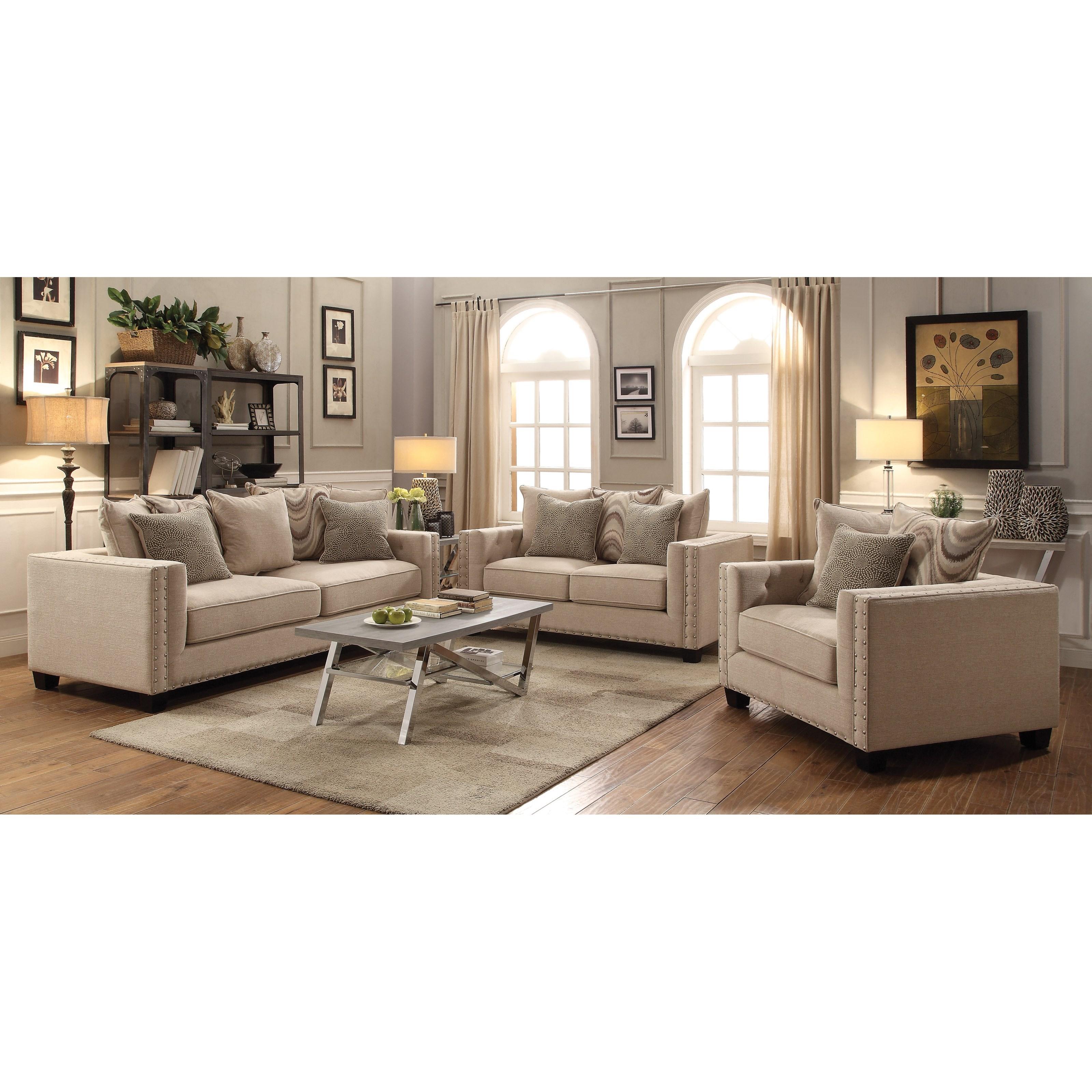 Coaster Lyonesse Stationary Living Room Group Del Sol Furniture Stationar