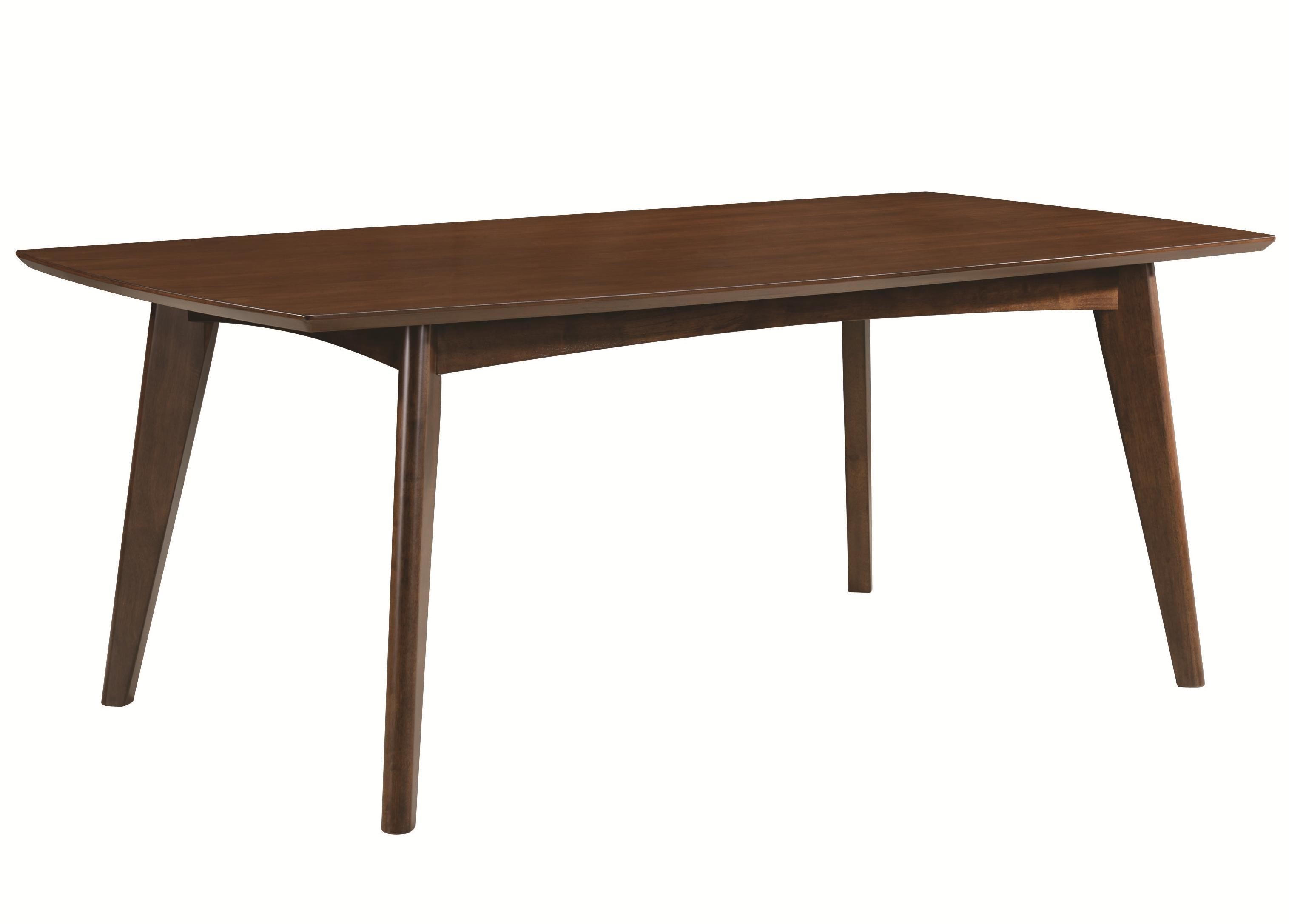 Coaster malone 105351 mid century modern casual dining for Informal dining table