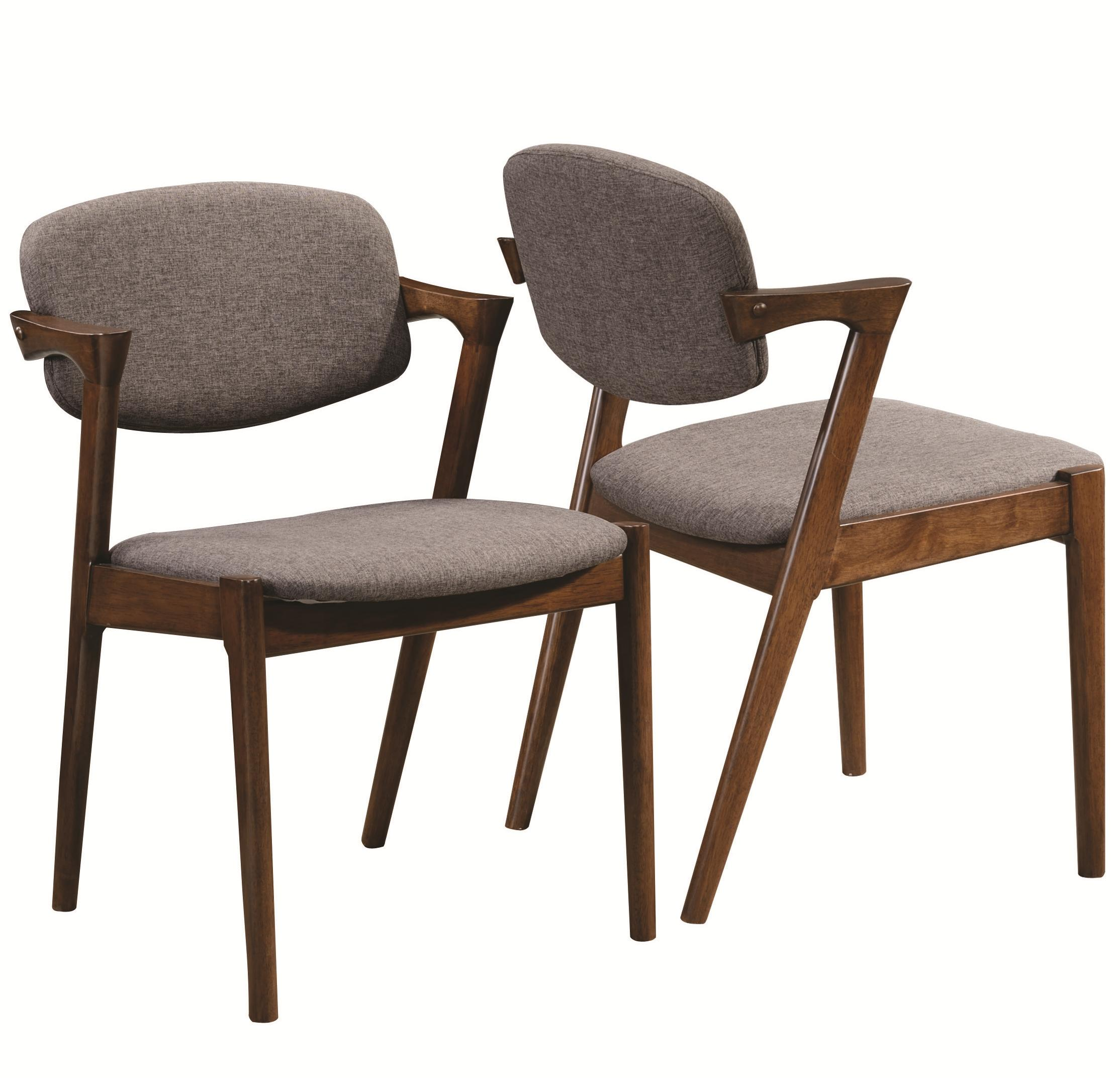 Coaster malone 105352 mid century modern dining side chair for Contemporary dining chairs with arms