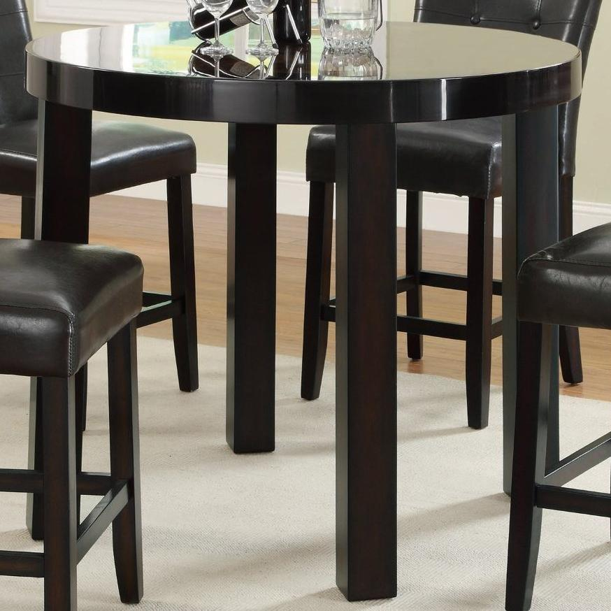 Coaster Maloy 103798 Round Counter Height Table With Faux Marble Top Del Sol Furniture Pub