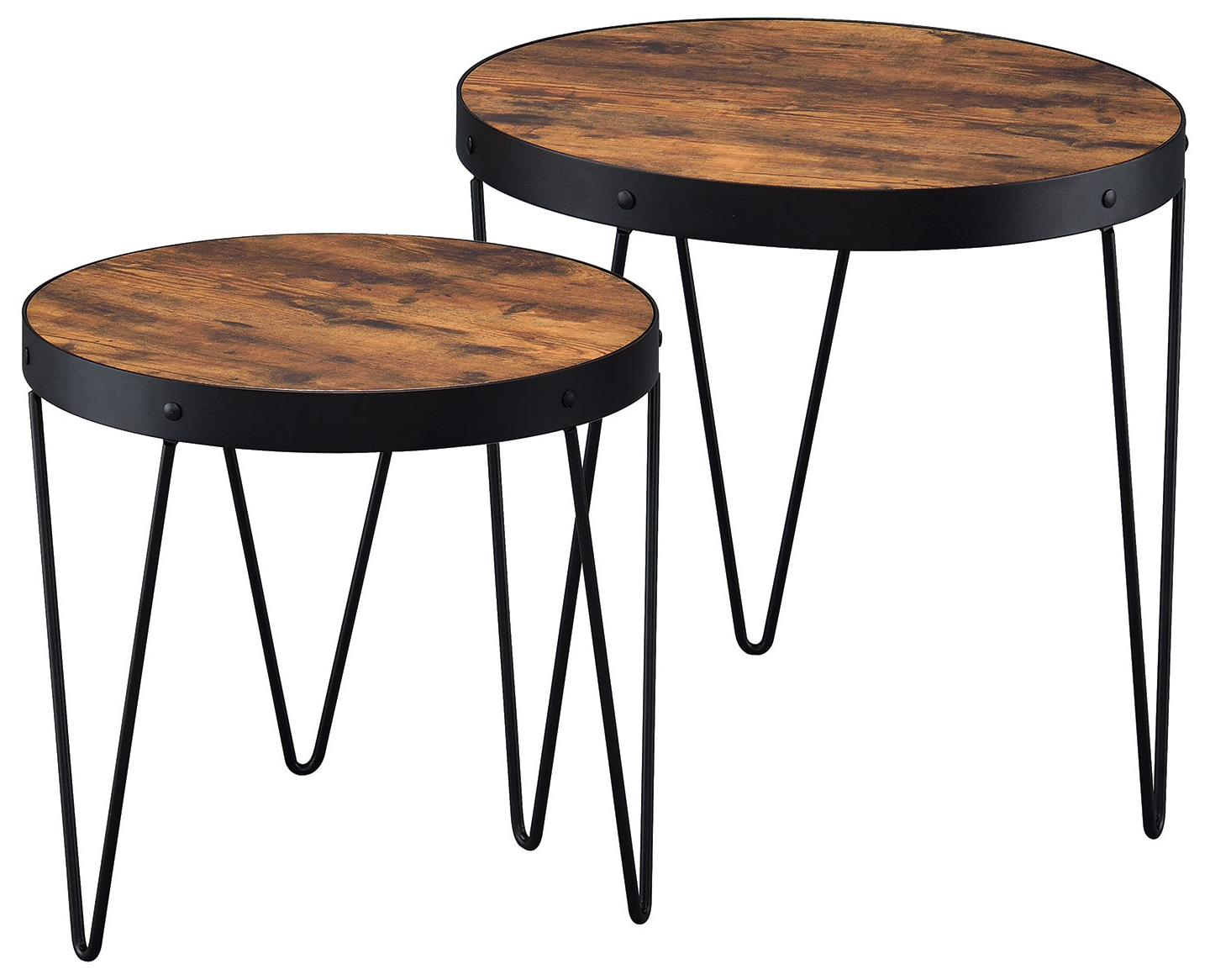 Coaster nesting tables 901944 2 piece nesting table set for Bright colored side tables
