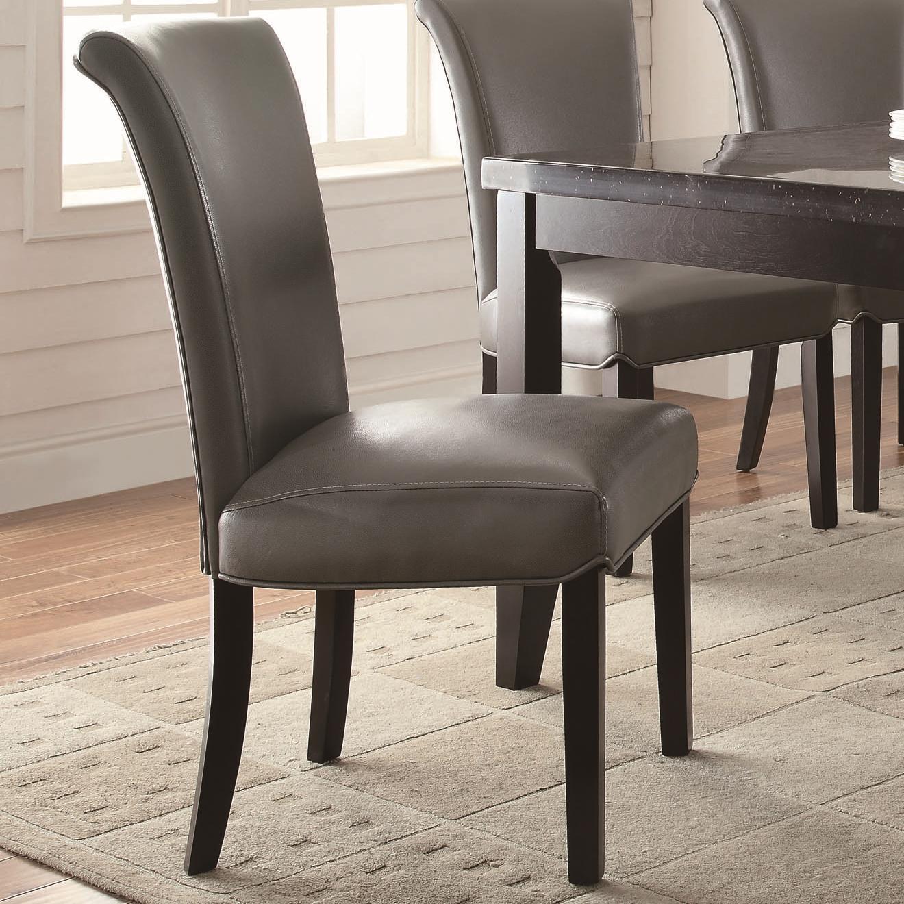 coaster newbridge upholstered metal side chair value city furniture dining side chairs. Black Bedroom Furniture Sets. Home Design Ideas