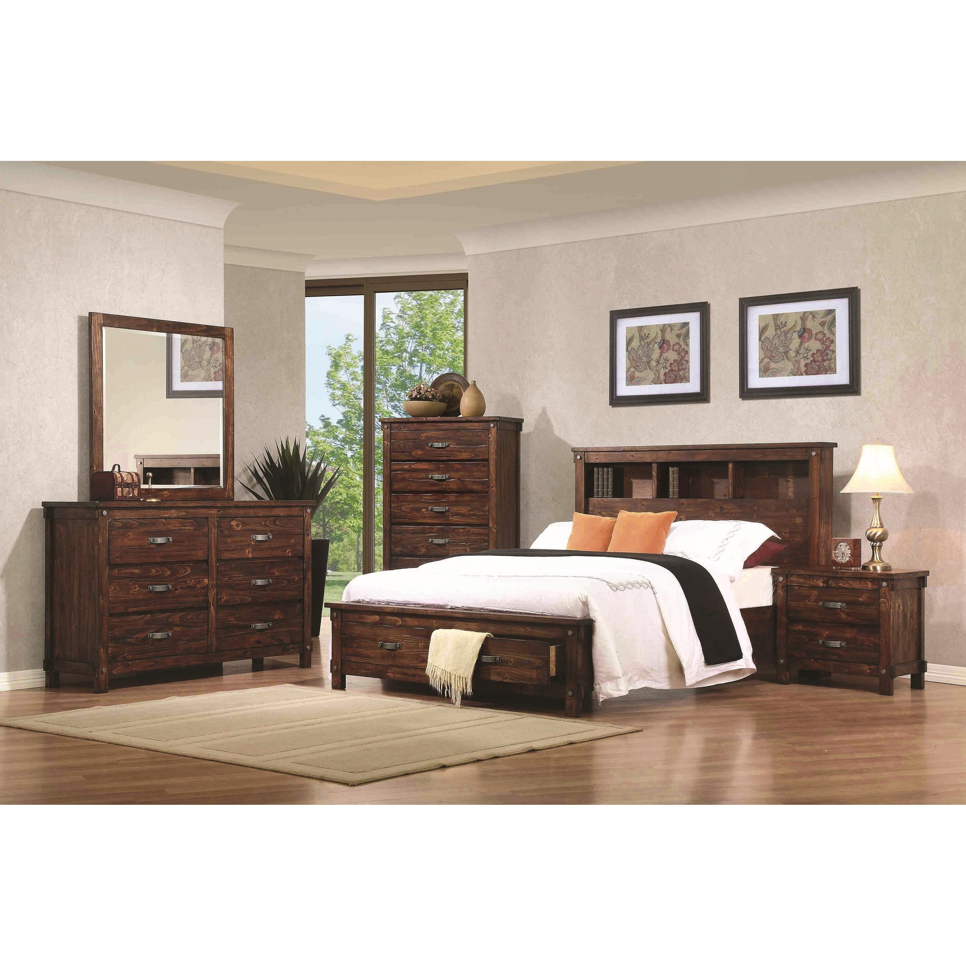 Coaster noble queen bedroom group value city furniture for Bedroom furniture groups