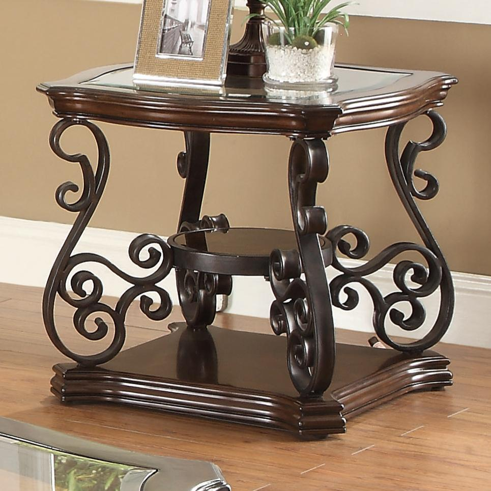 Metal End Tables ~ Coaster occasional group end table with tempered