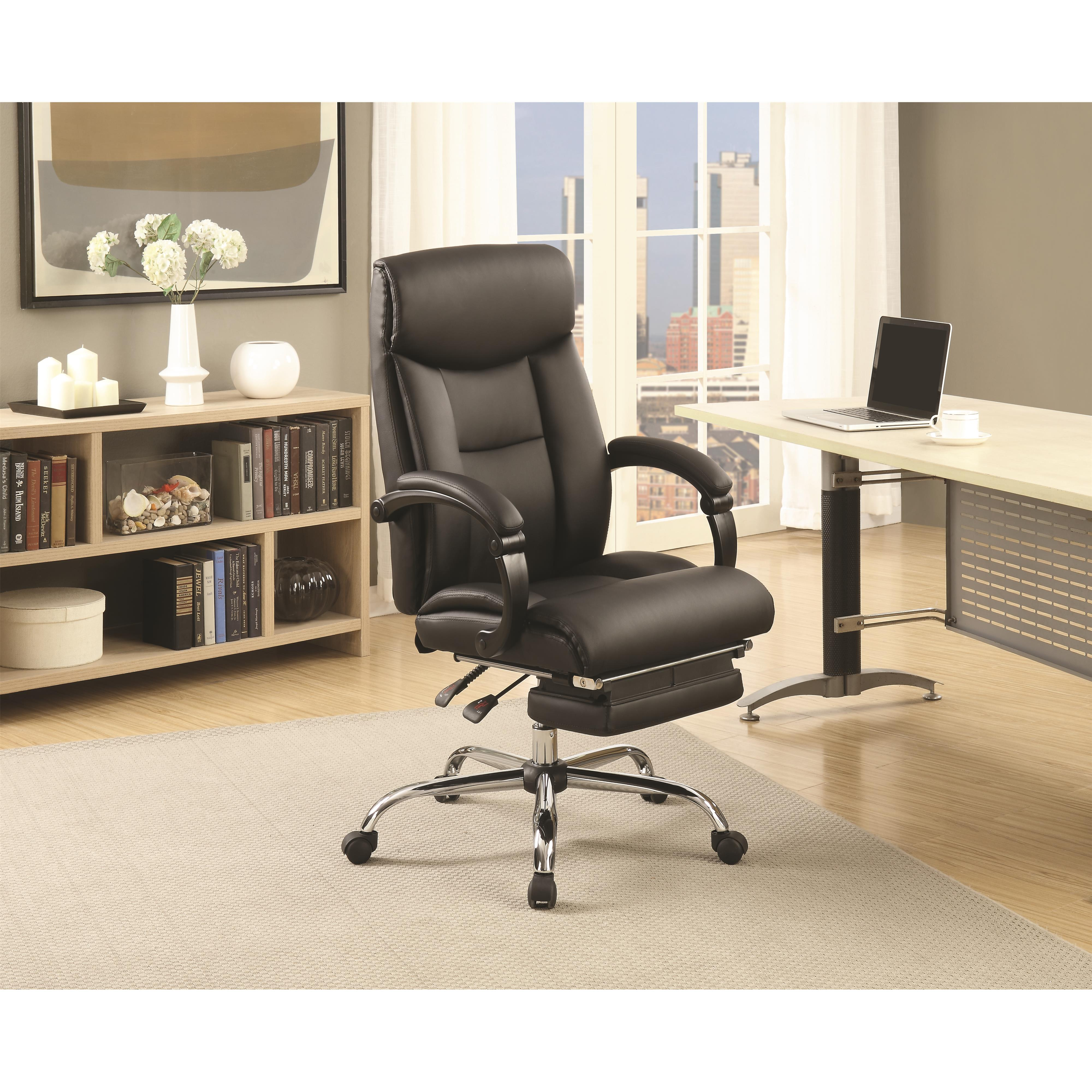 Coaster Office Chairs 801318 Black Adjustable Office Chair
