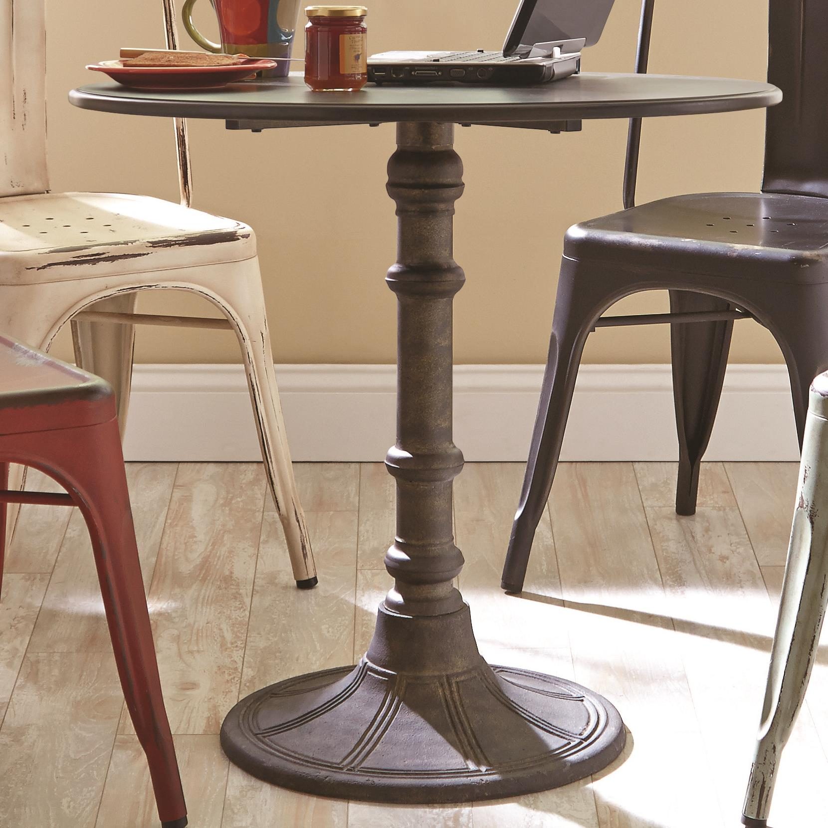 Coaster Oswego Round Industrial Bistro Table Rife 39 S Home Furniture Kitchen Tables