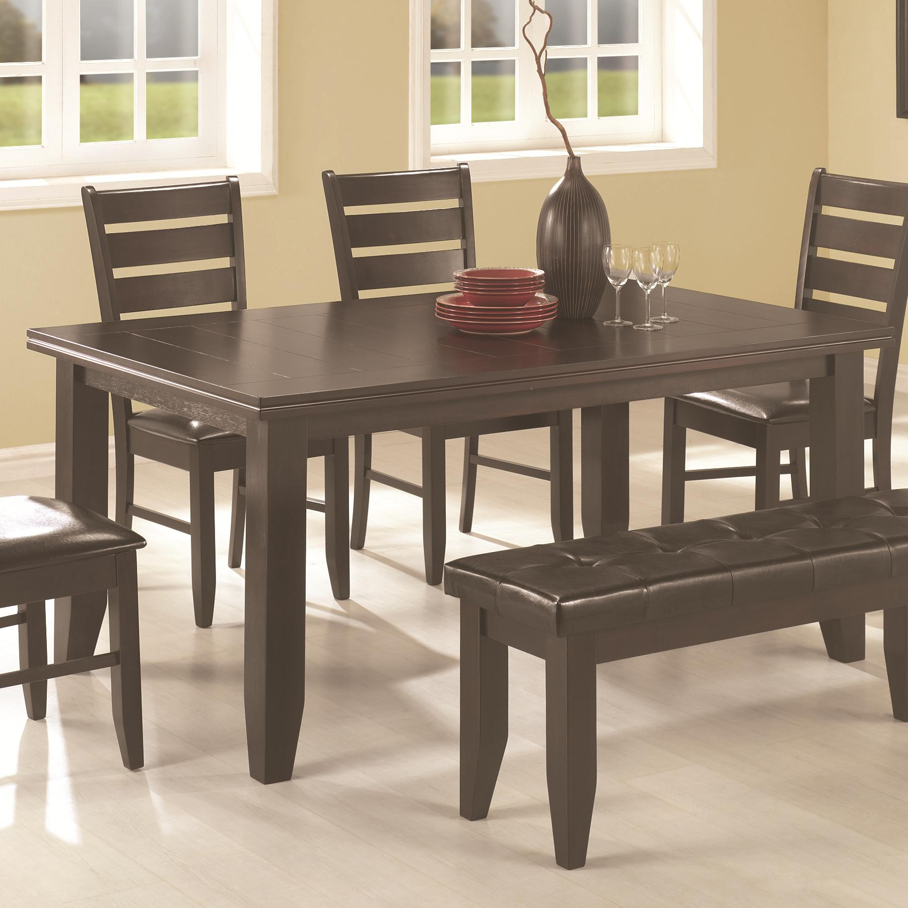 Coaster page 102721 contemporary rectangular semi formal for Contemporary rectangular dining table