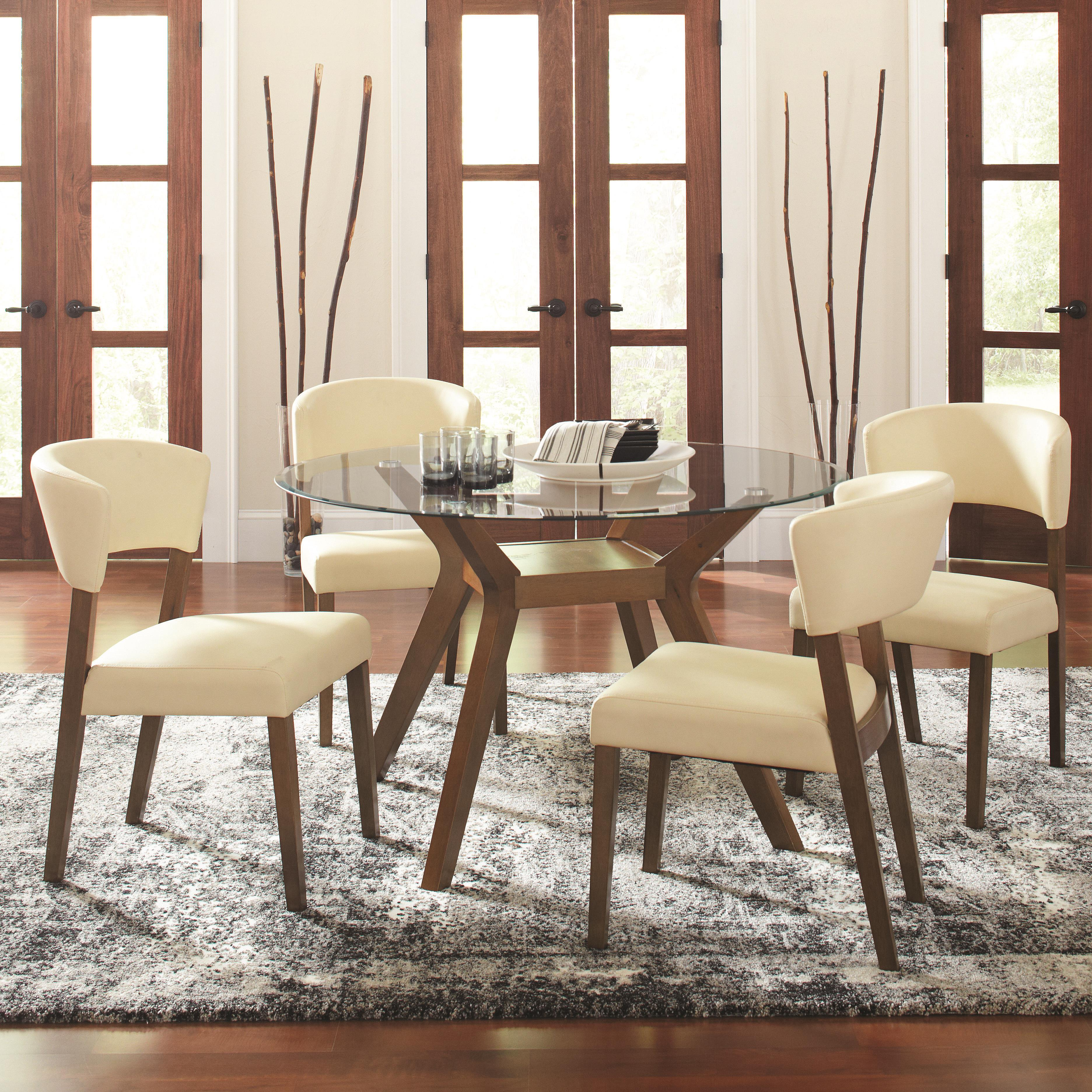Coaster Paxton 5 Piece Round Dining Table Set with