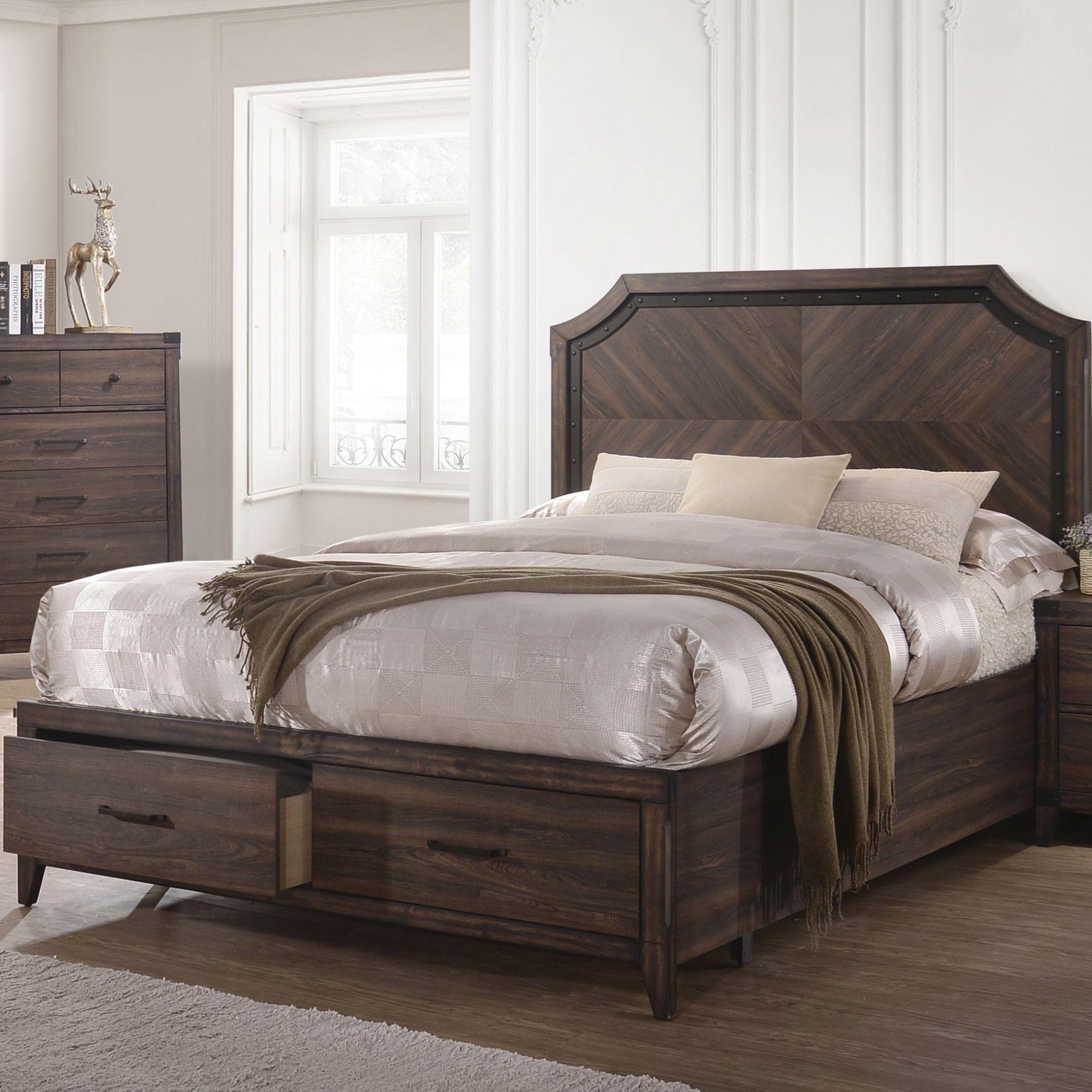 coaster richmond king platform bed with storage footboard. Black Bedroom Furniture Sets. Home Design Ideas
