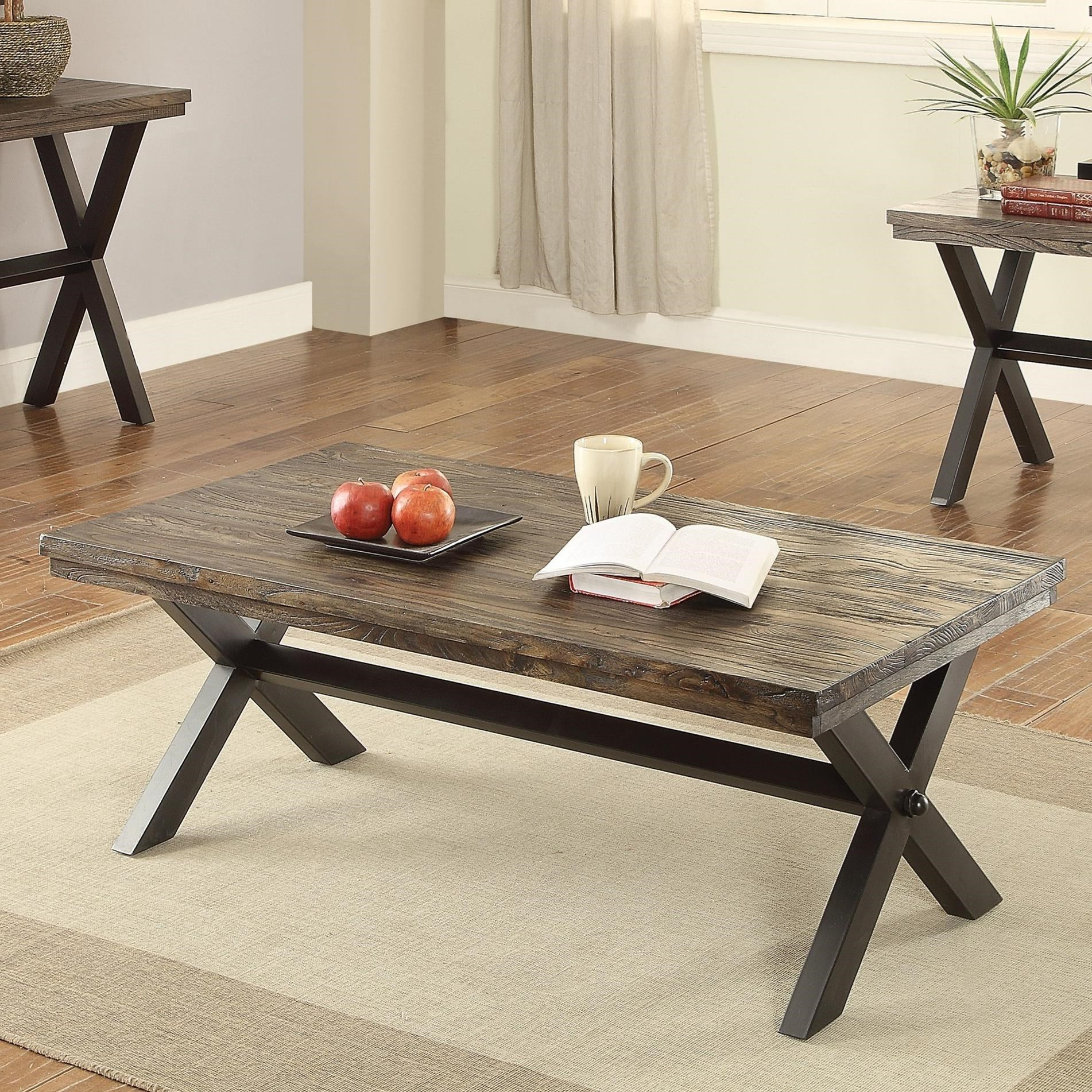Coaster Romilly 705278 Rustic Coffee Table Del Sol