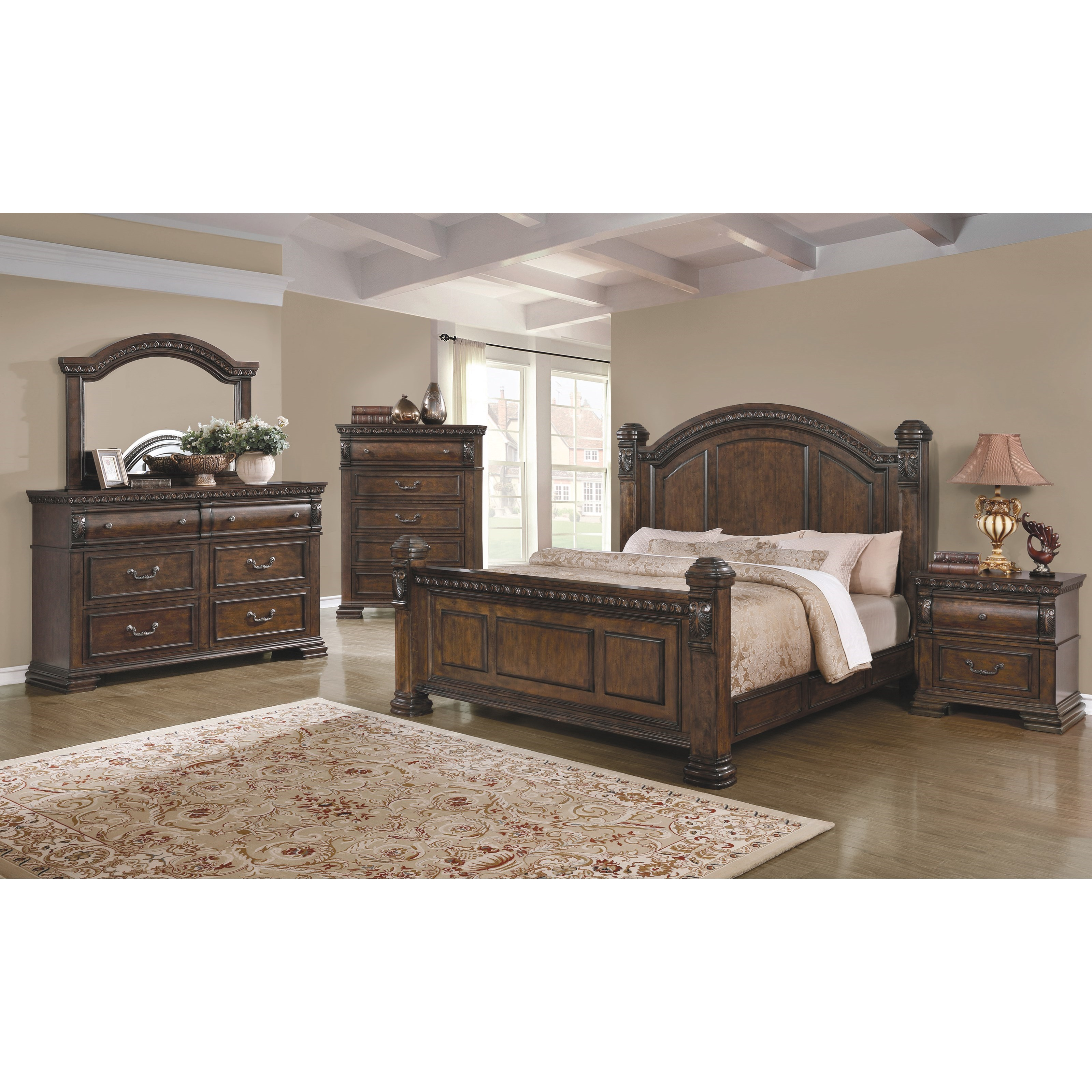 Coaster satterfield king bedroom group value city for Bedroom groups