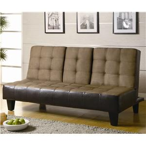 Coaster Sofa Beds And Futons Faux Leather Sofa Bed With