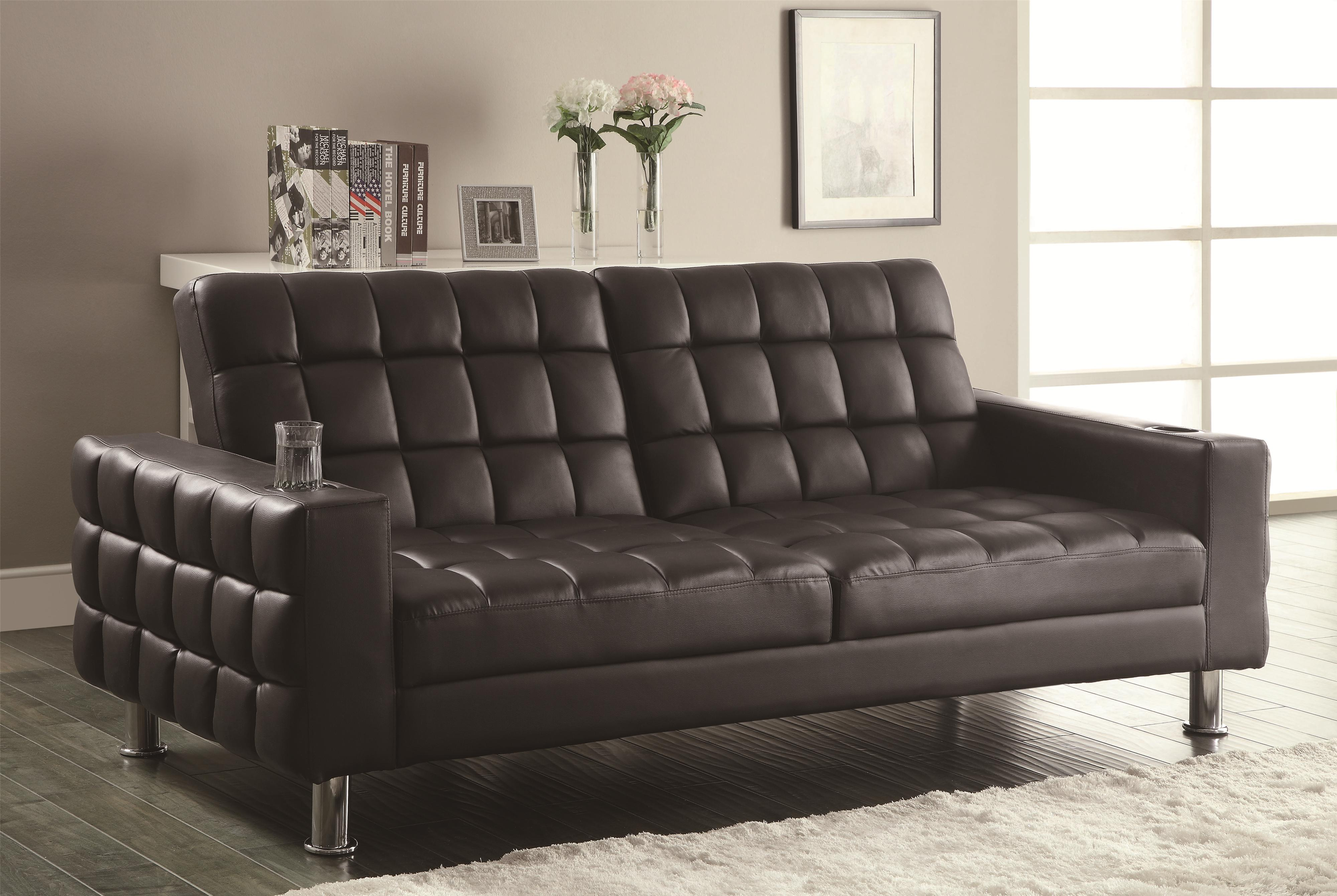 coaster sofa beds and futons adjustable sofa bed with cup. Black Bedroom Furniture Sets. Home Design Ideas