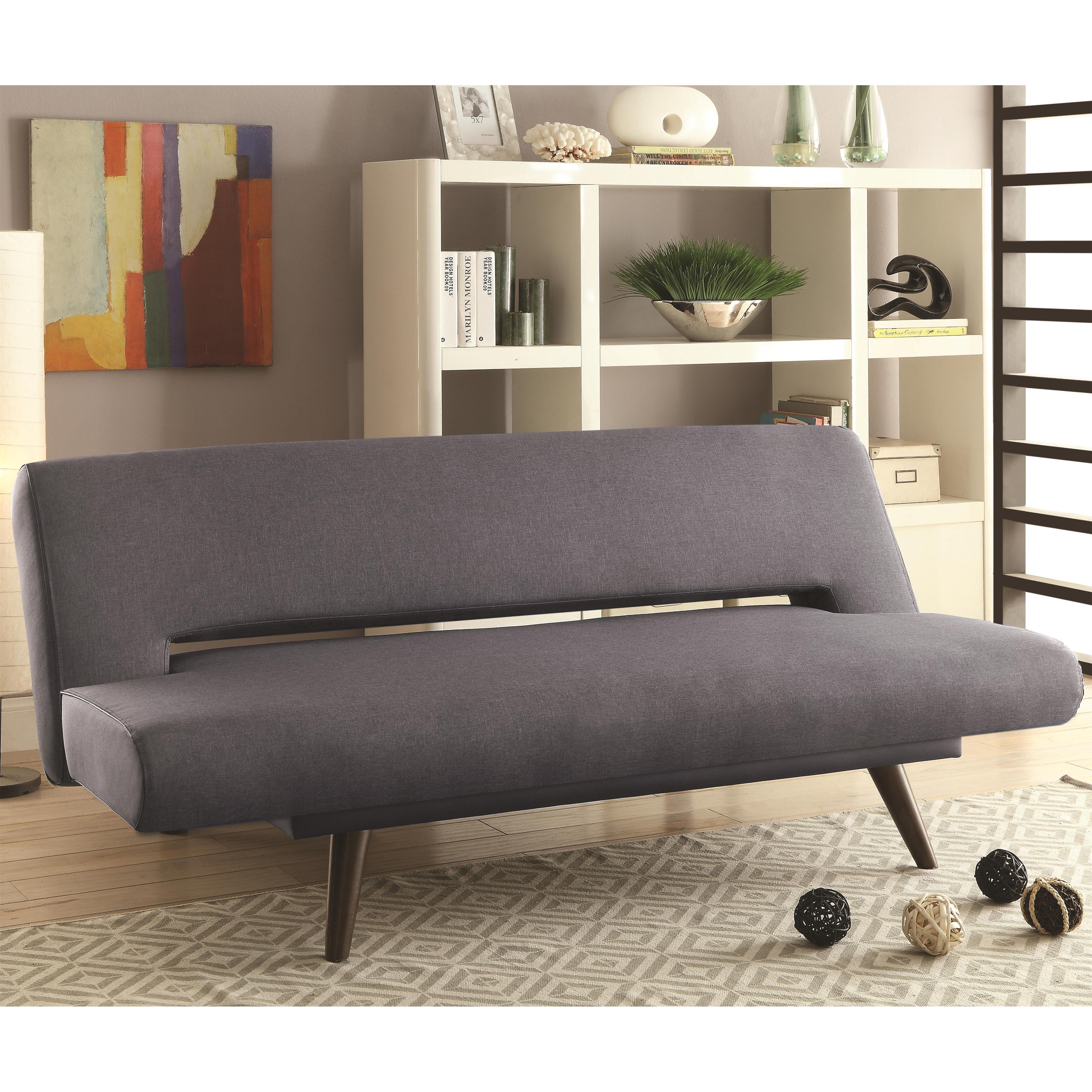 coaster sofa beds and futons mid century modern adjustable. Black Bedroom Furniture Sets. Home Design Ideas