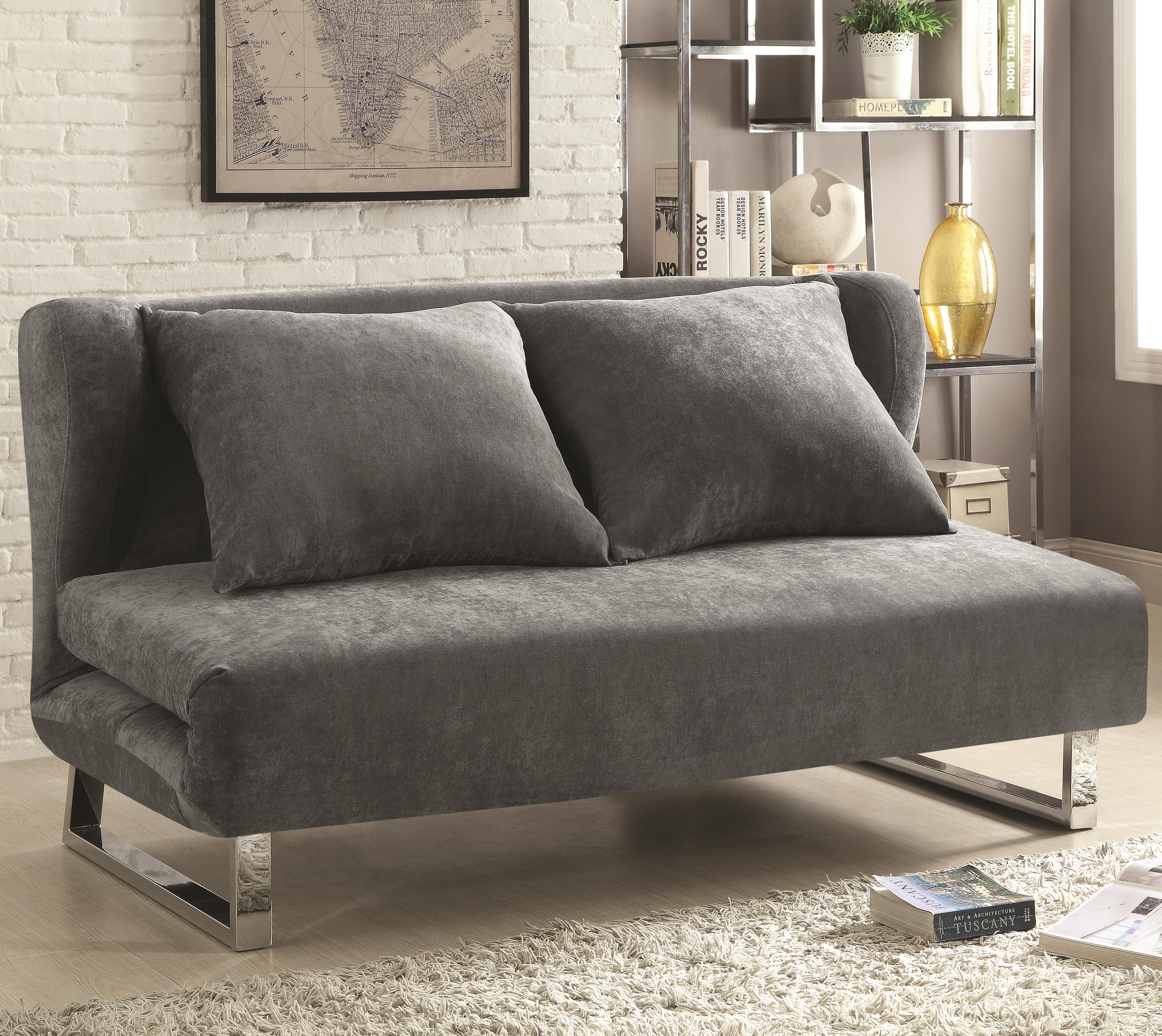 Coaster sofa bed 300276 sofa bed brown by coaster thesofa for Coaster transitional styled sectional sofa sleeper in brown