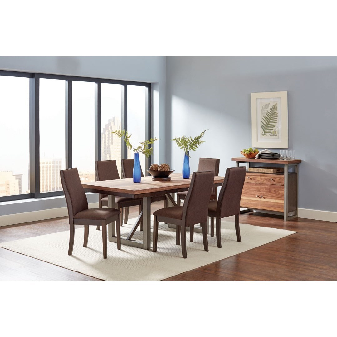 Coaster spring creek casual dining room group value city for Casual formal dining room