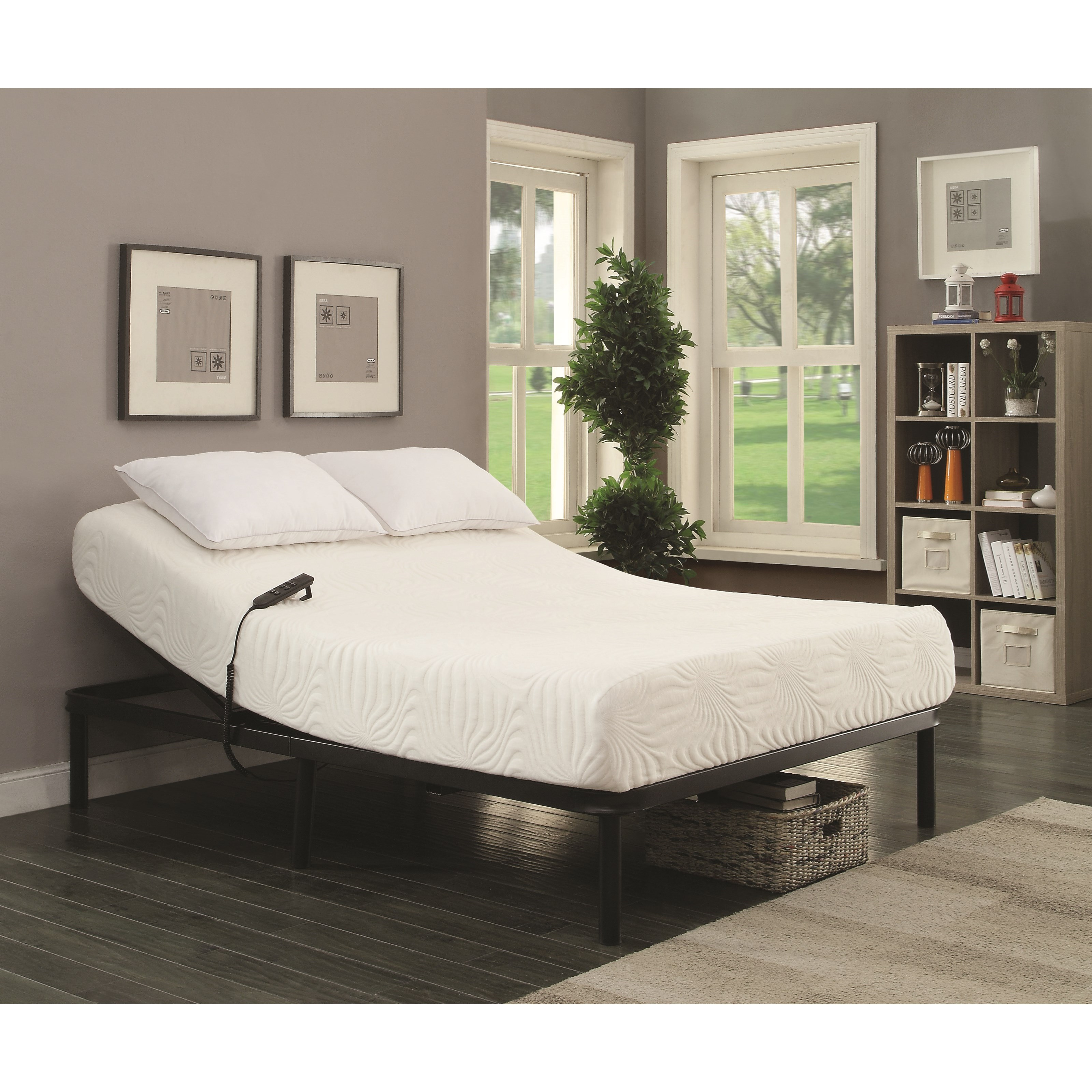 coaster stanhope adjustable bed base 350044tl twin extra long electric adjustable bed base del. Black Bedroom Furniture Sets. Home Design Ideas