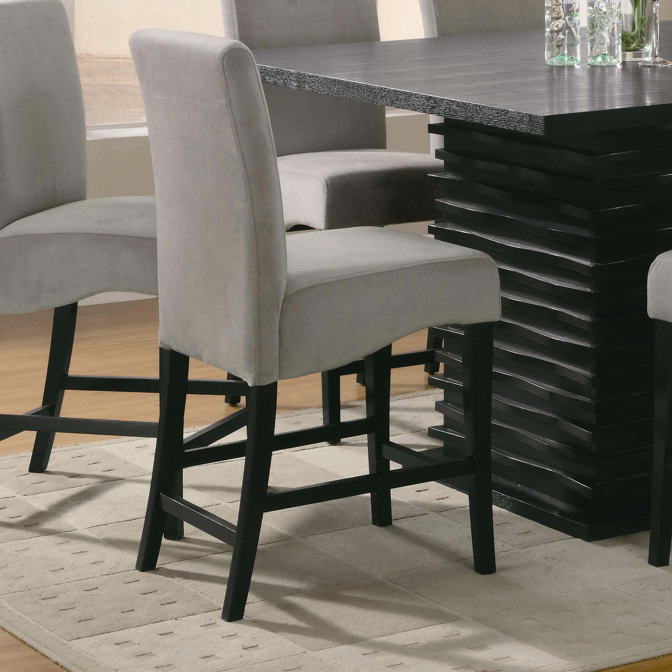 Coaster Stanton 102069gry 24 Inch Gray Bar Stool Del Sol Furniture Bar Stools