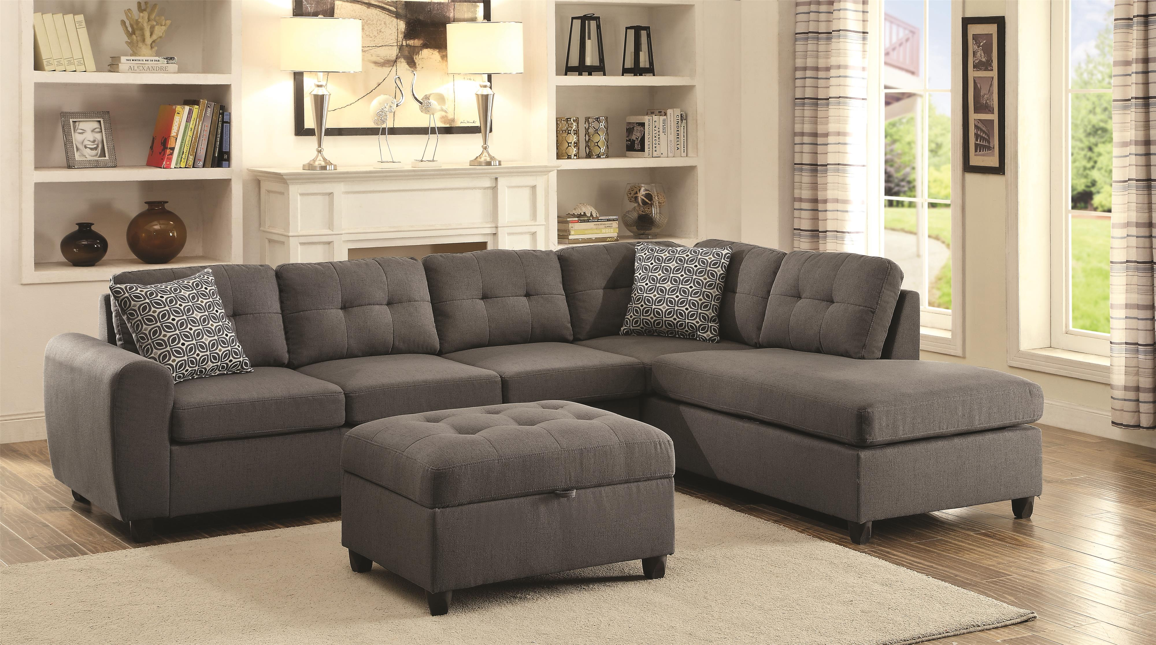 coaster stonenesse living room group del sol furniture stationary living room groups