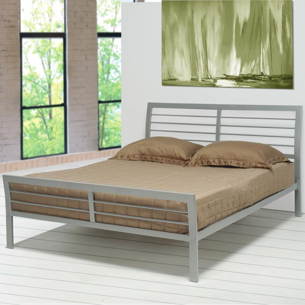 Coaster stoney creek 300201q queen iron bed dunk for Stoney creek bedroom set