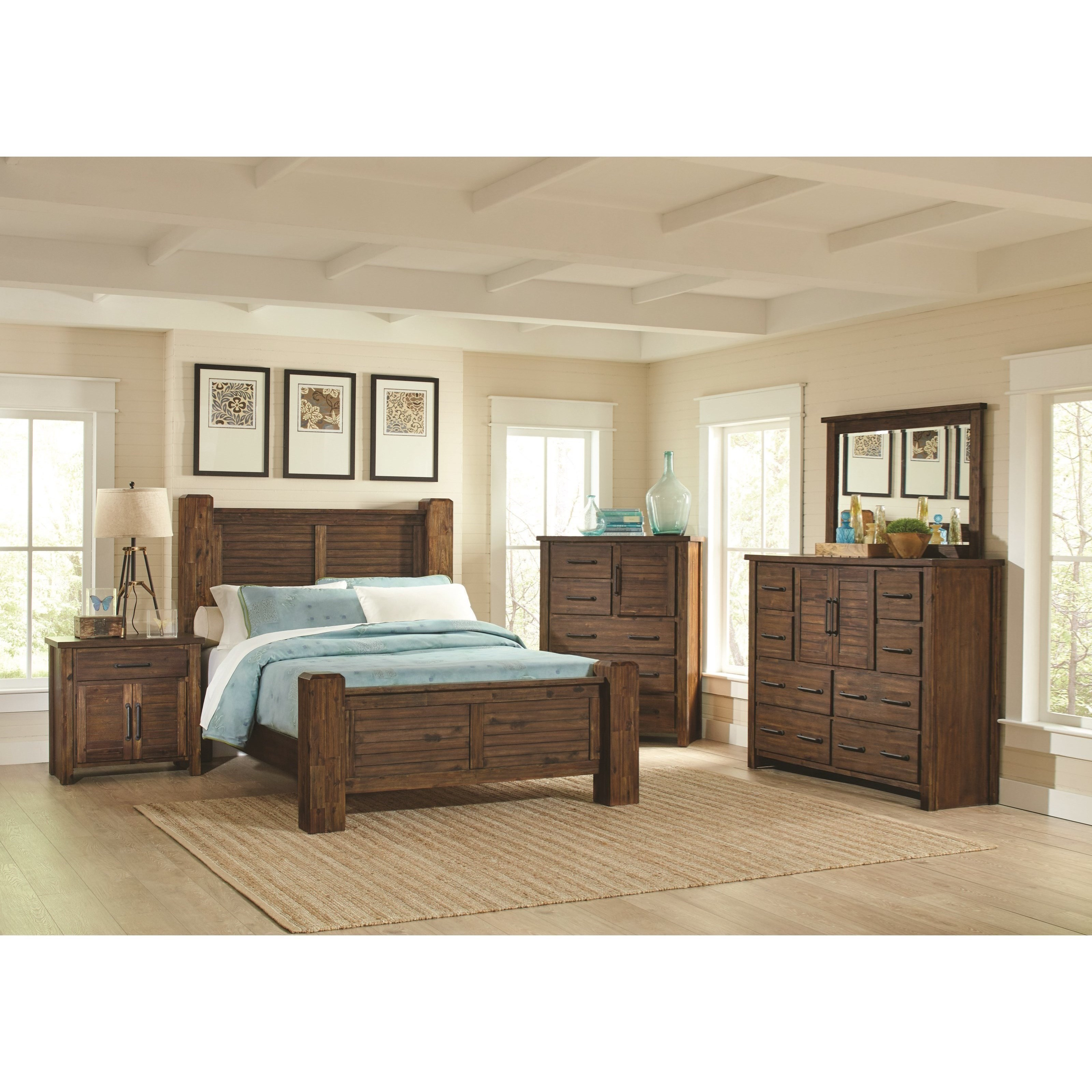 Coaster sutter creek queen bedroom group value city for Bedroom furniture groups