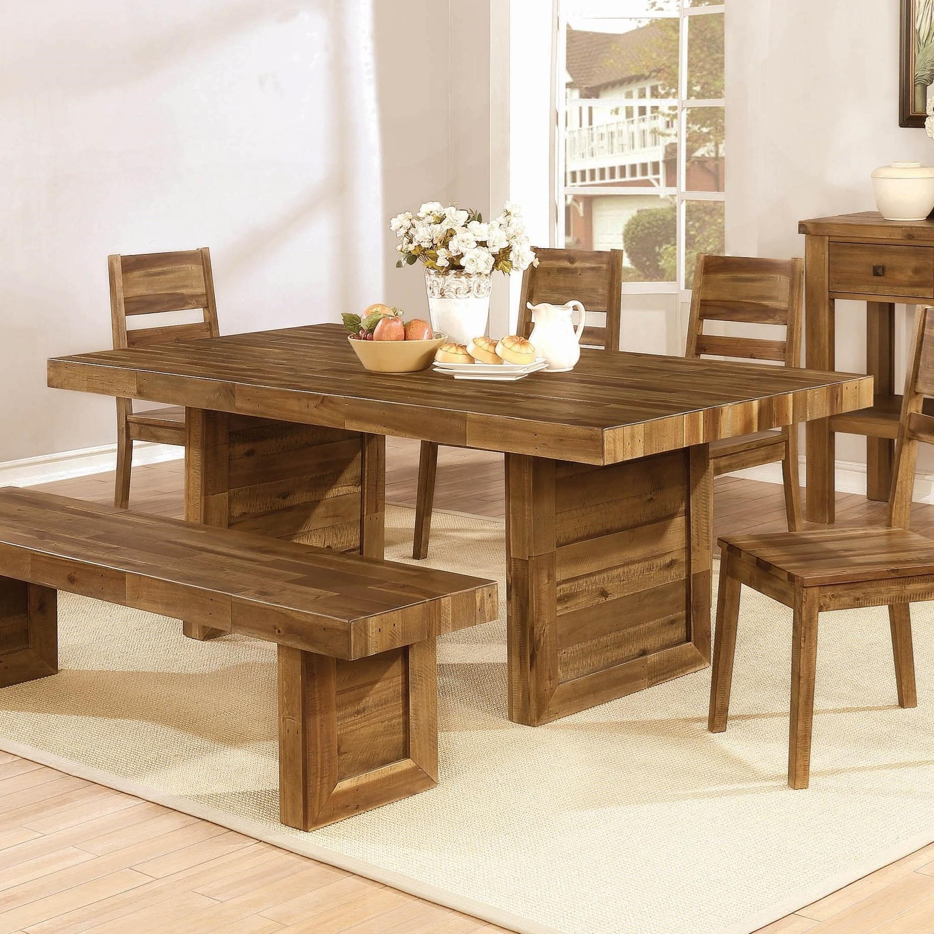 coaster tucson rustic dining table rife 39 s home furniture dining tables. Black Bedroom Furniture Sets. Home Design Ideas