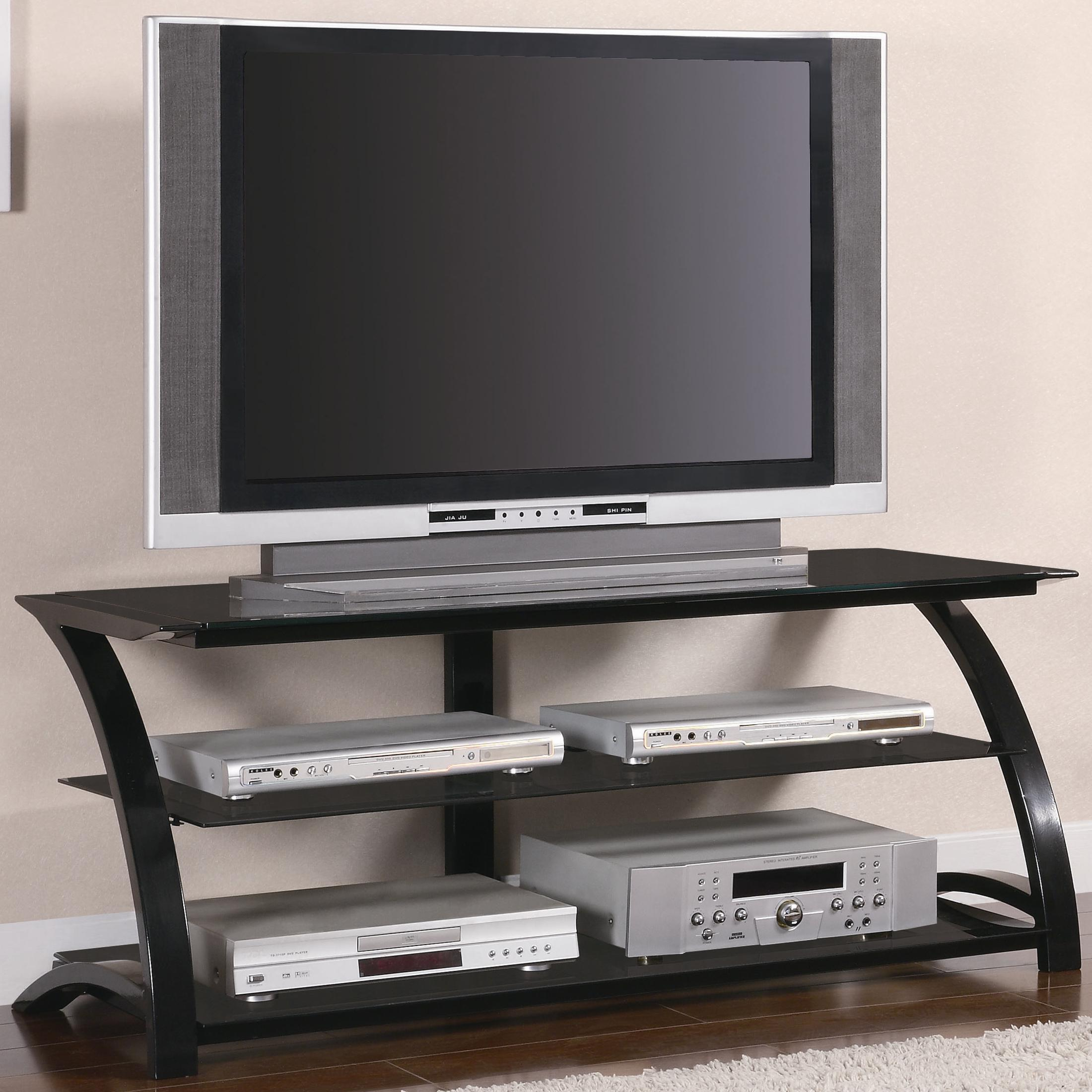 coaster tv stands 700664 contemporary metal and glass. Black Bedroom Furniture Sets. Home Design Ideas