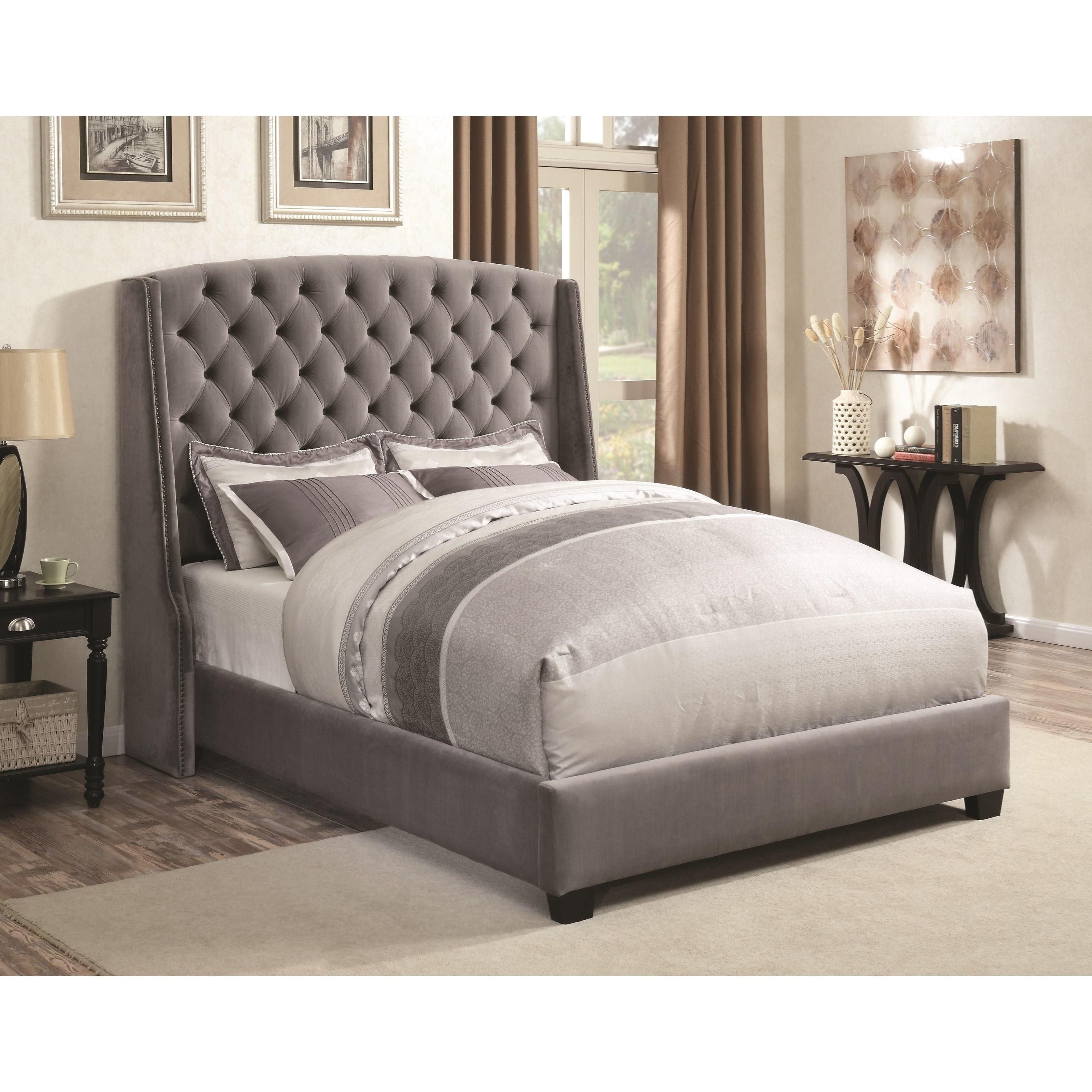 Coaster Upholstered Beds 300515q Pissarro Wingback