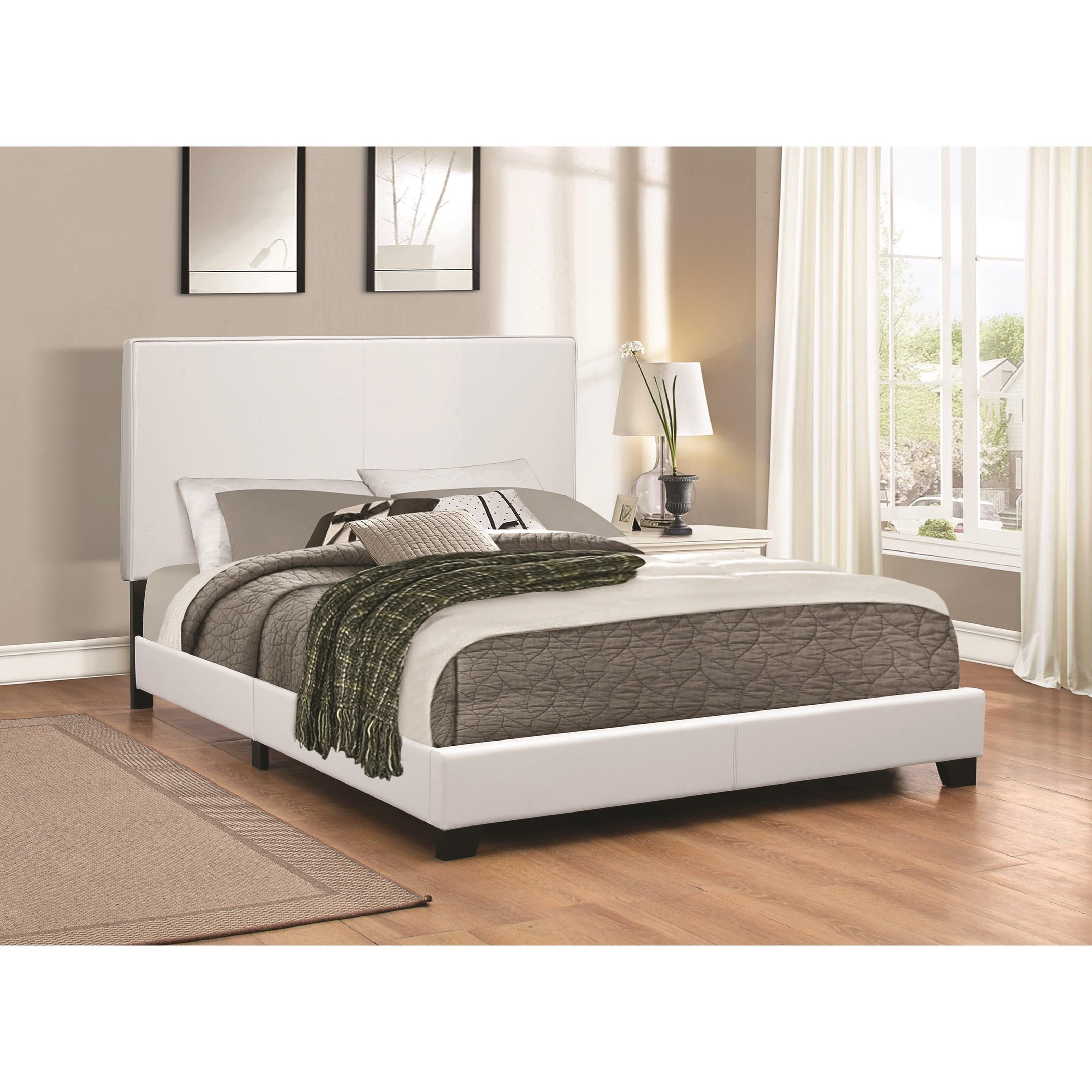 coaster upholstered beds 300559q upholstered low profile. Black Bedroom Furniture Sets. Home Design Ideas