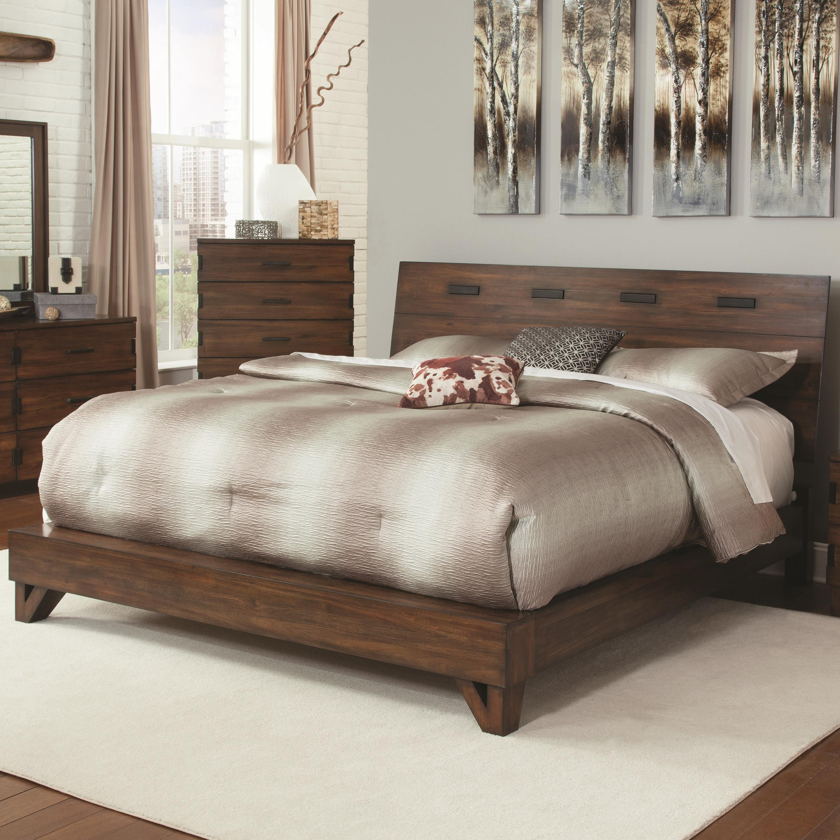 Coaster Yorkshire 204851kw Rustic California King Bed With Contemporary Design Del Sol