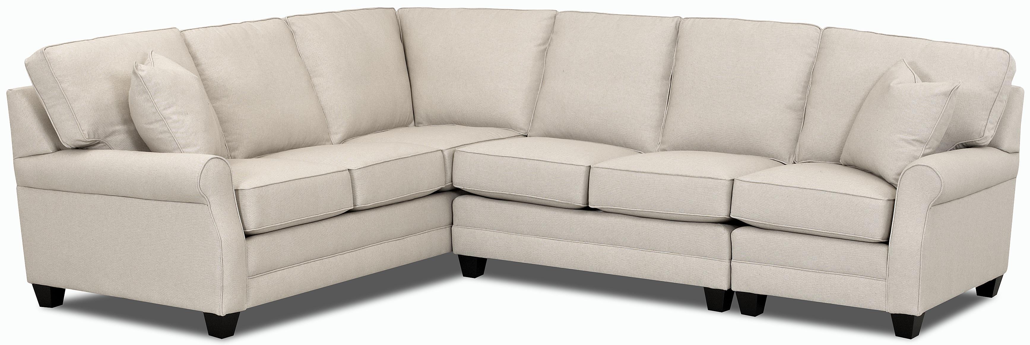 comfort design loft sectional sofa group jacksonville. Black Bedroom Furniture Sets. Home Design Ideas