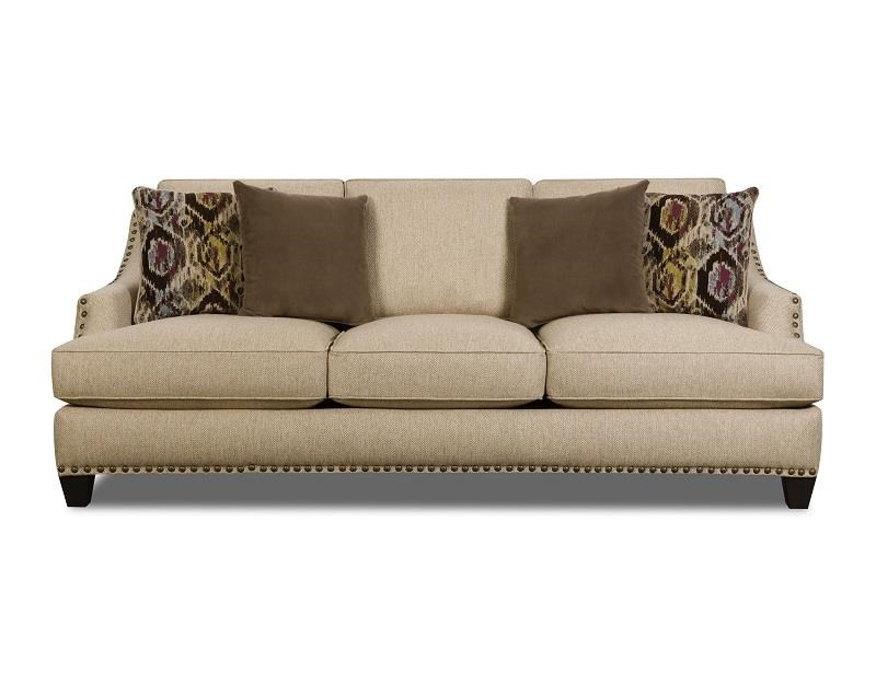 Corinthian jute 44a3 sofa great american home store sofas for American home furniture couches