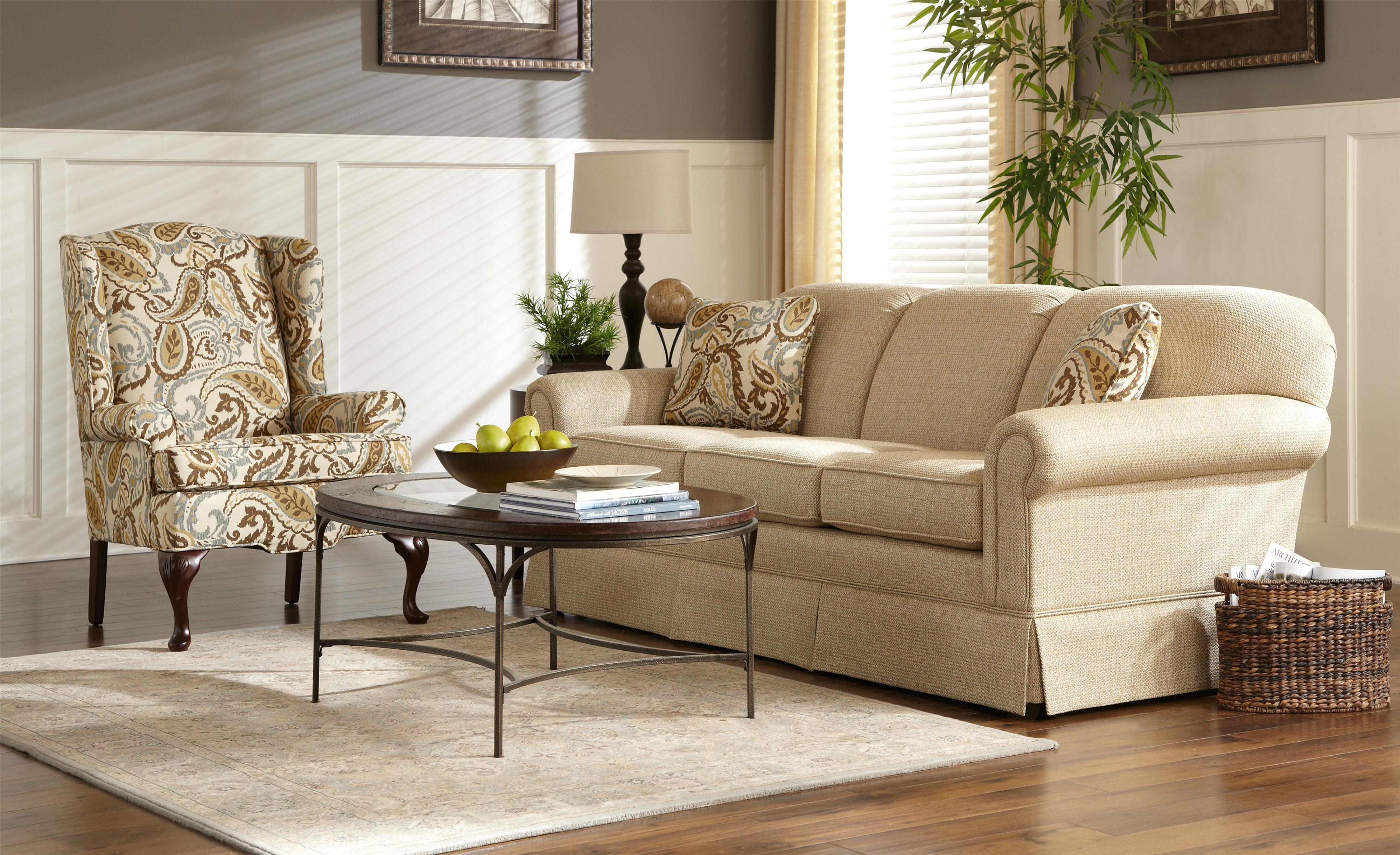 Craftmaster 4200 4200 68 traditional stationary sleeper sofa hudson 39 s furniture sleeper sofas for Encore home designs by craftmaster
