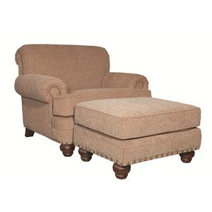 Craftmaster Traditional Sofa with Rolled Arms and
