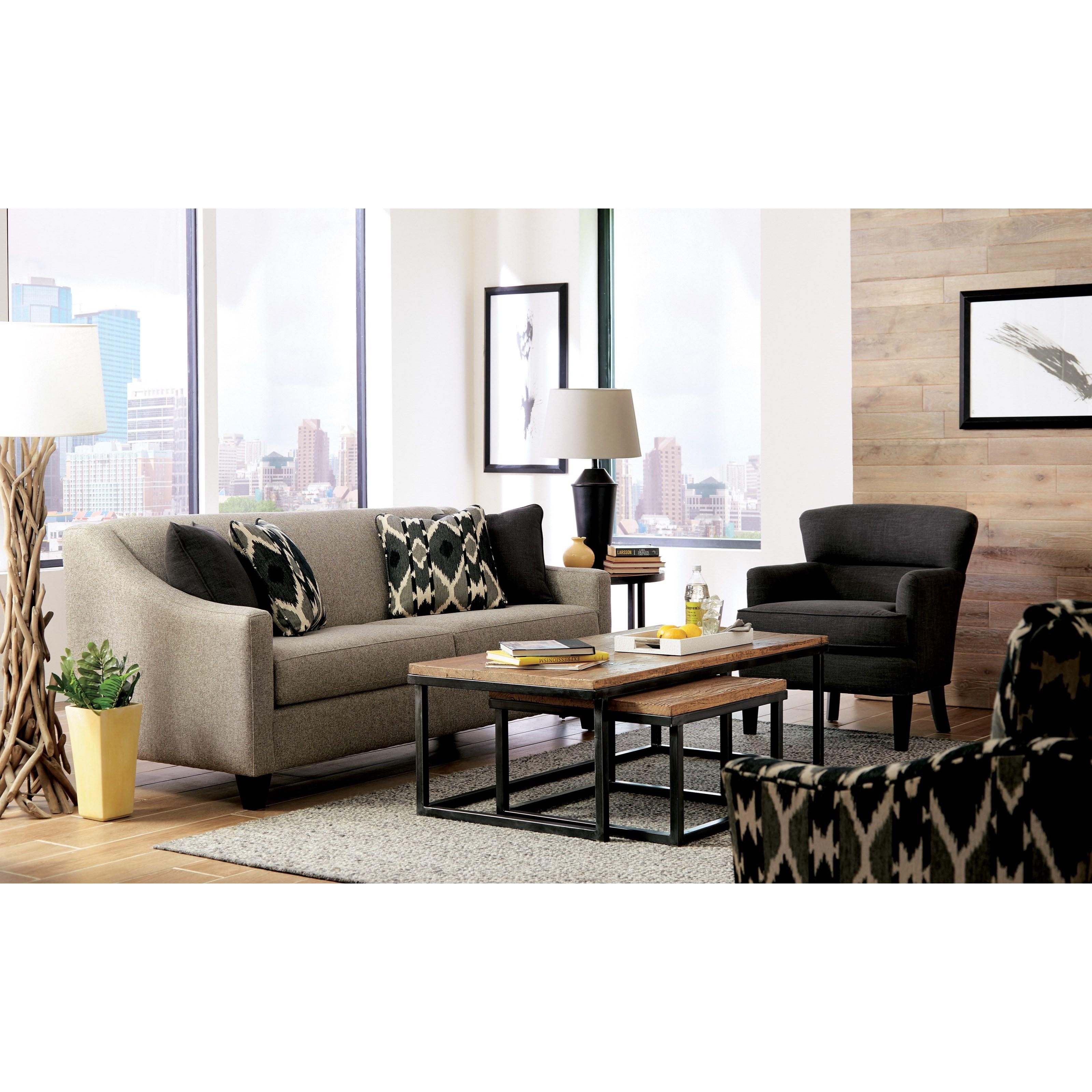 Craftmaster 776950 Contemporary Queen Sleeper Sofa