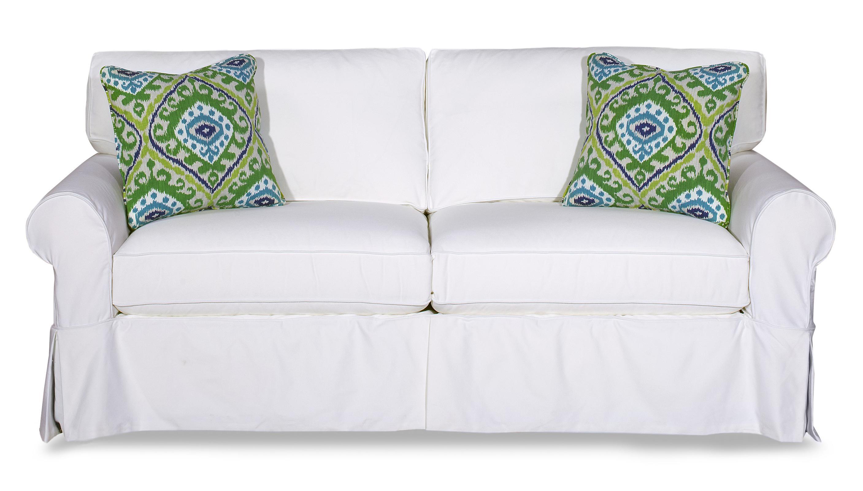 Craftmaster 922800 Cottage Style Slipcover Sleeper Sofa