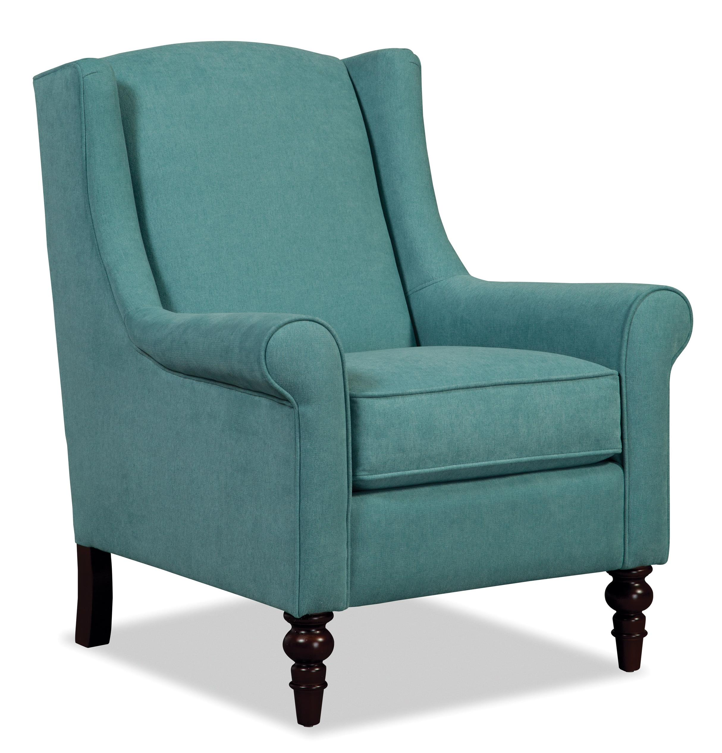 Craftmaster Accent Chairs Wing Back Chair With Traditional Turned Legs Miskelly Furniture