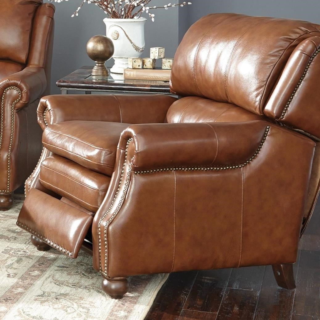 Craftmaster l164650 traditional leather high leg recliner for Traditional sofas with legs