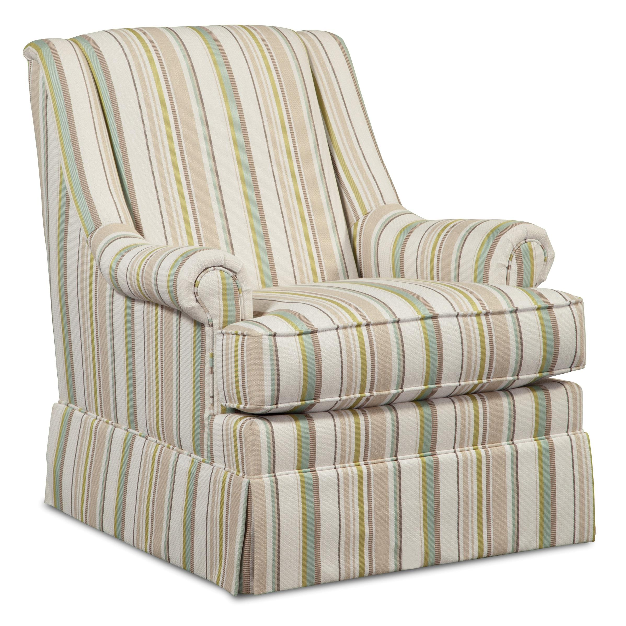 Craftmaster swivel chairs skirted swivel glider chair with for Swivel accent chairs with arms
